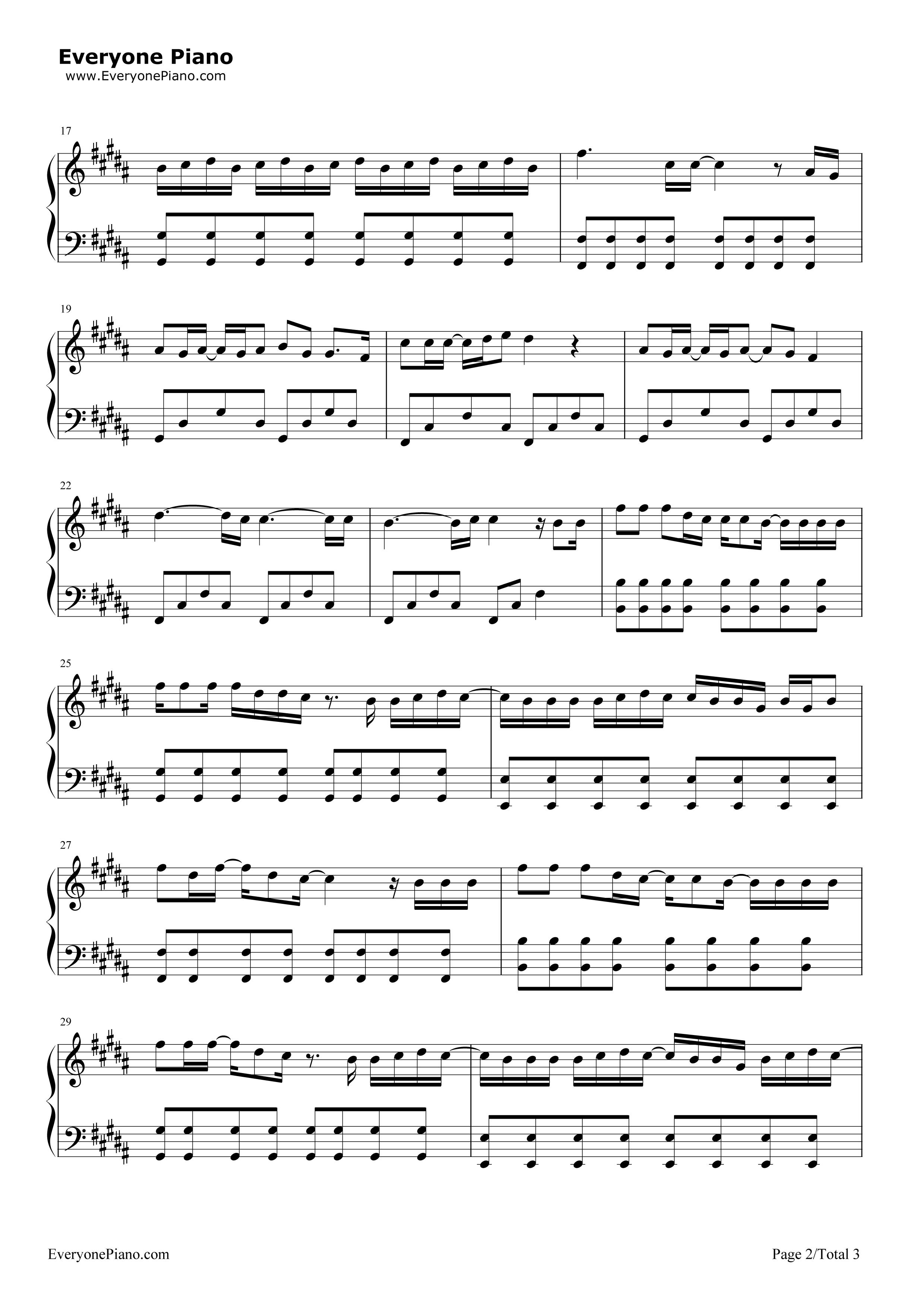 前前前世-电影《你的名字》的主题曲五线谱预览2-钢琴
