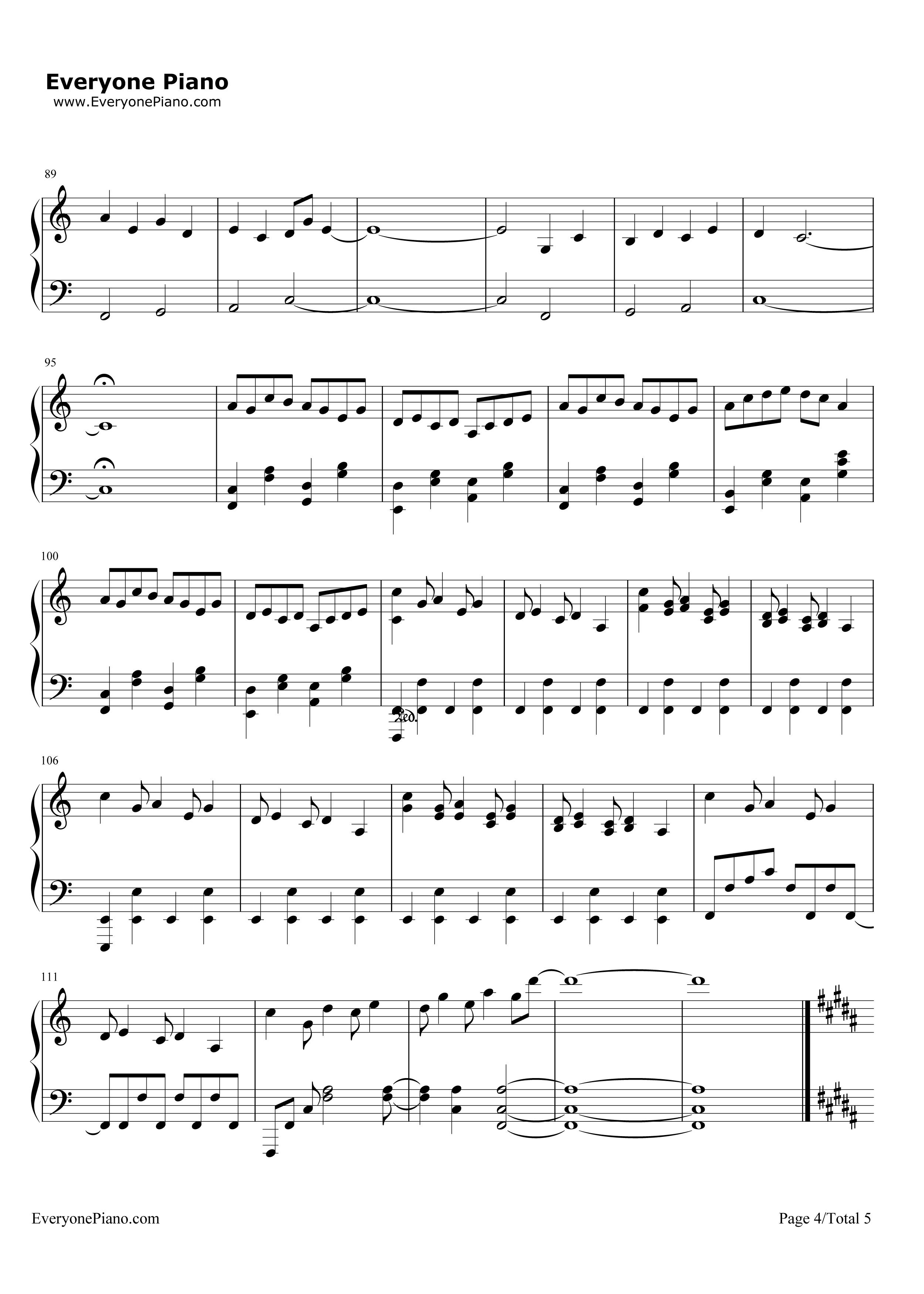 钢琴曲谱 影视 三叶のテーマ-《你的名字》三叶角色主题音乐 三叶のテ