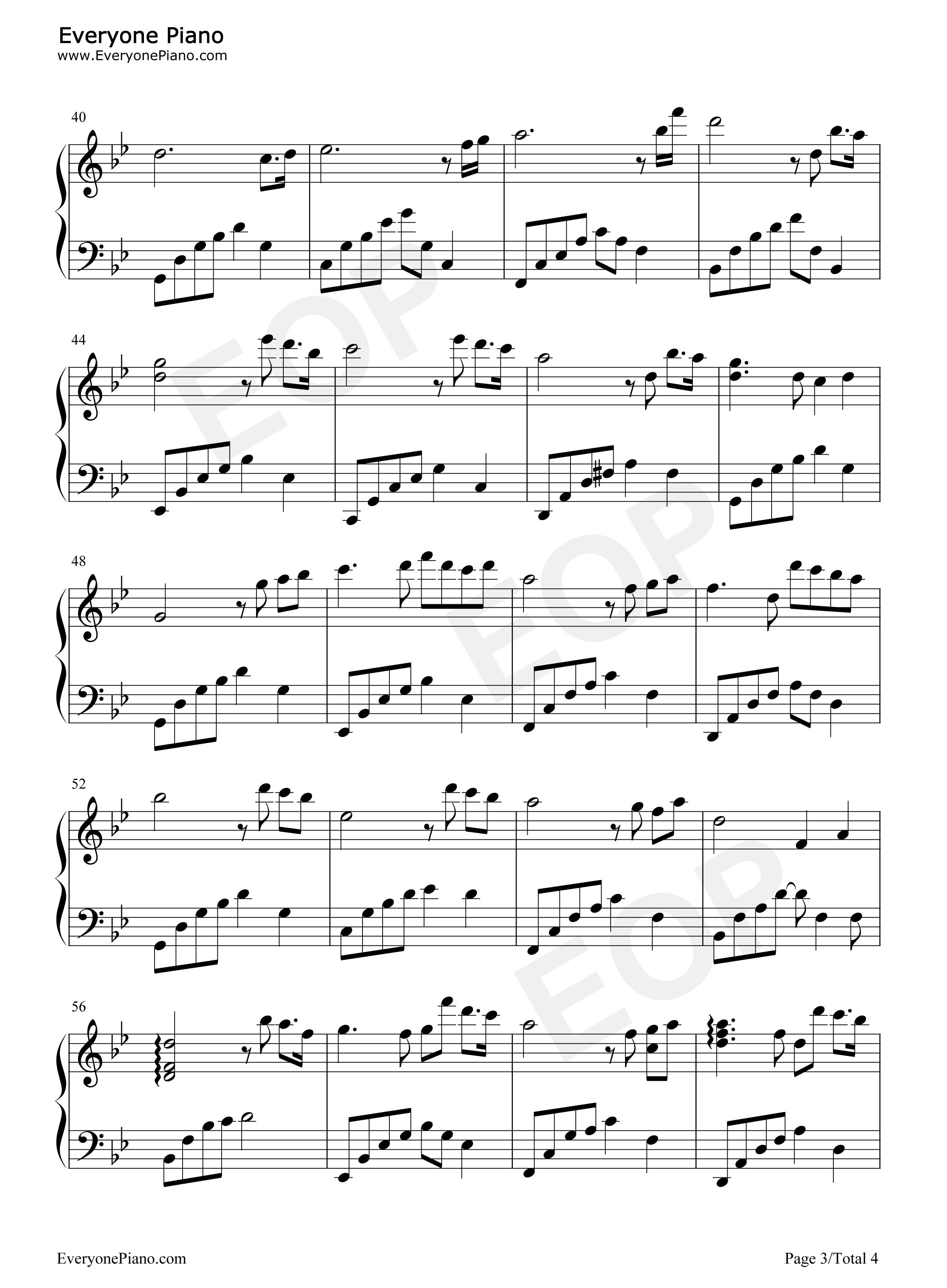 恍若如梦-夜的钢琴曲 ii五线谱预览3