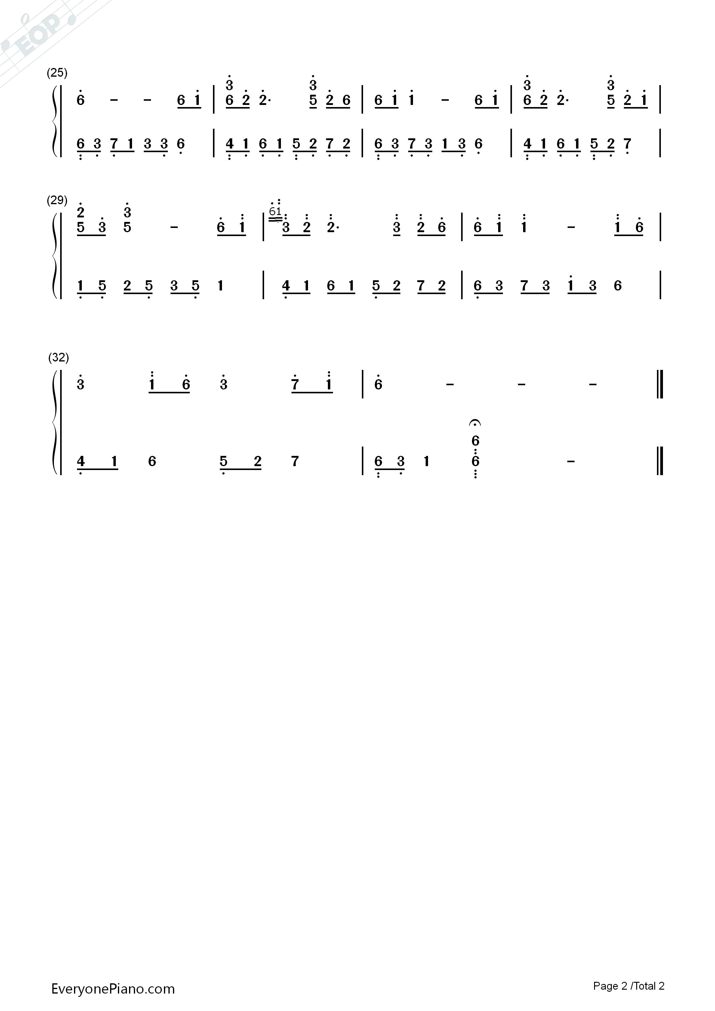 夜的钢琴曲1981-夜的钢琴曲双手简谱预览2