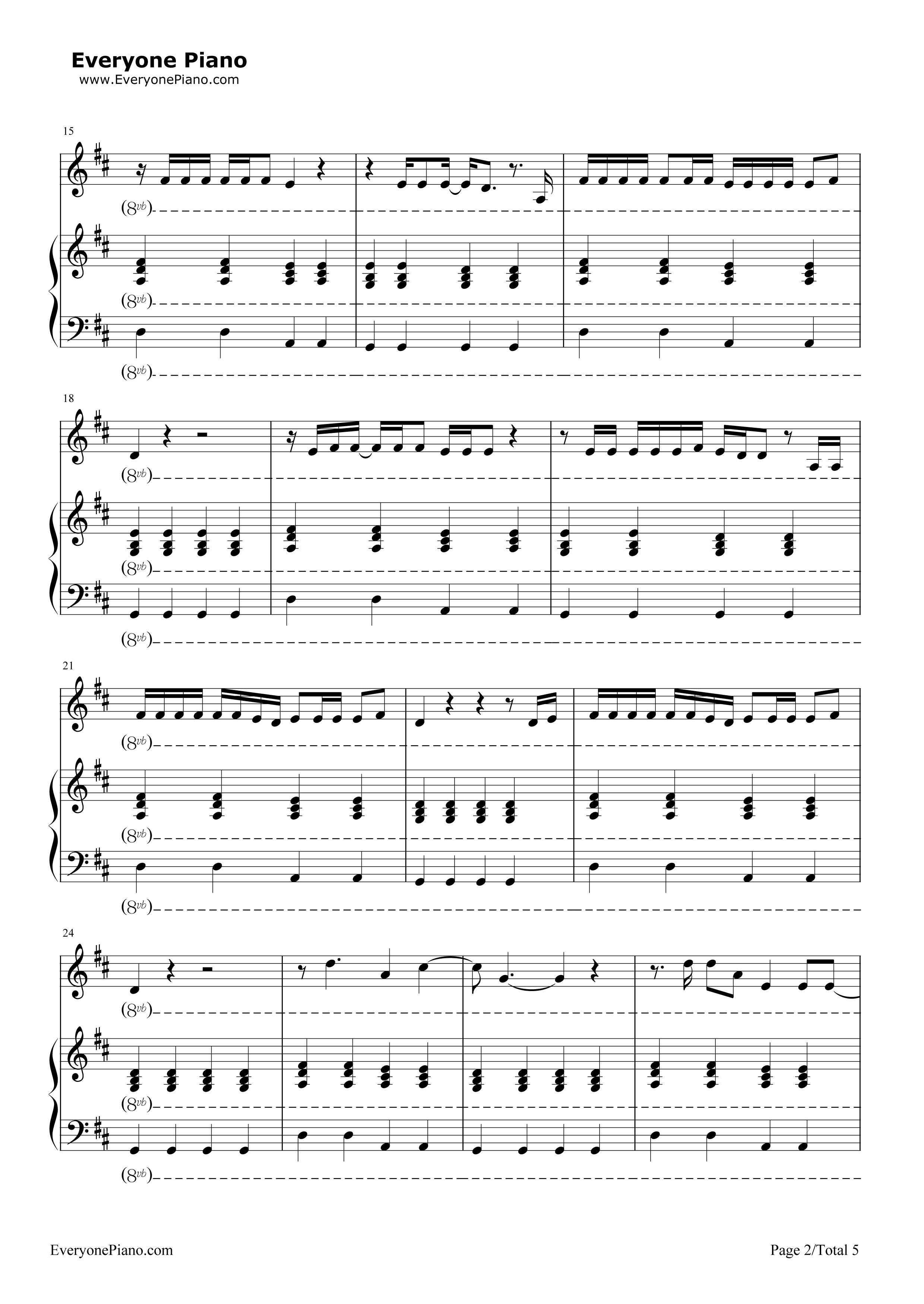 五线谱预览2 钢琴谱档 五线谱 双手简谱 数位谱 Midi PDF 免费下载