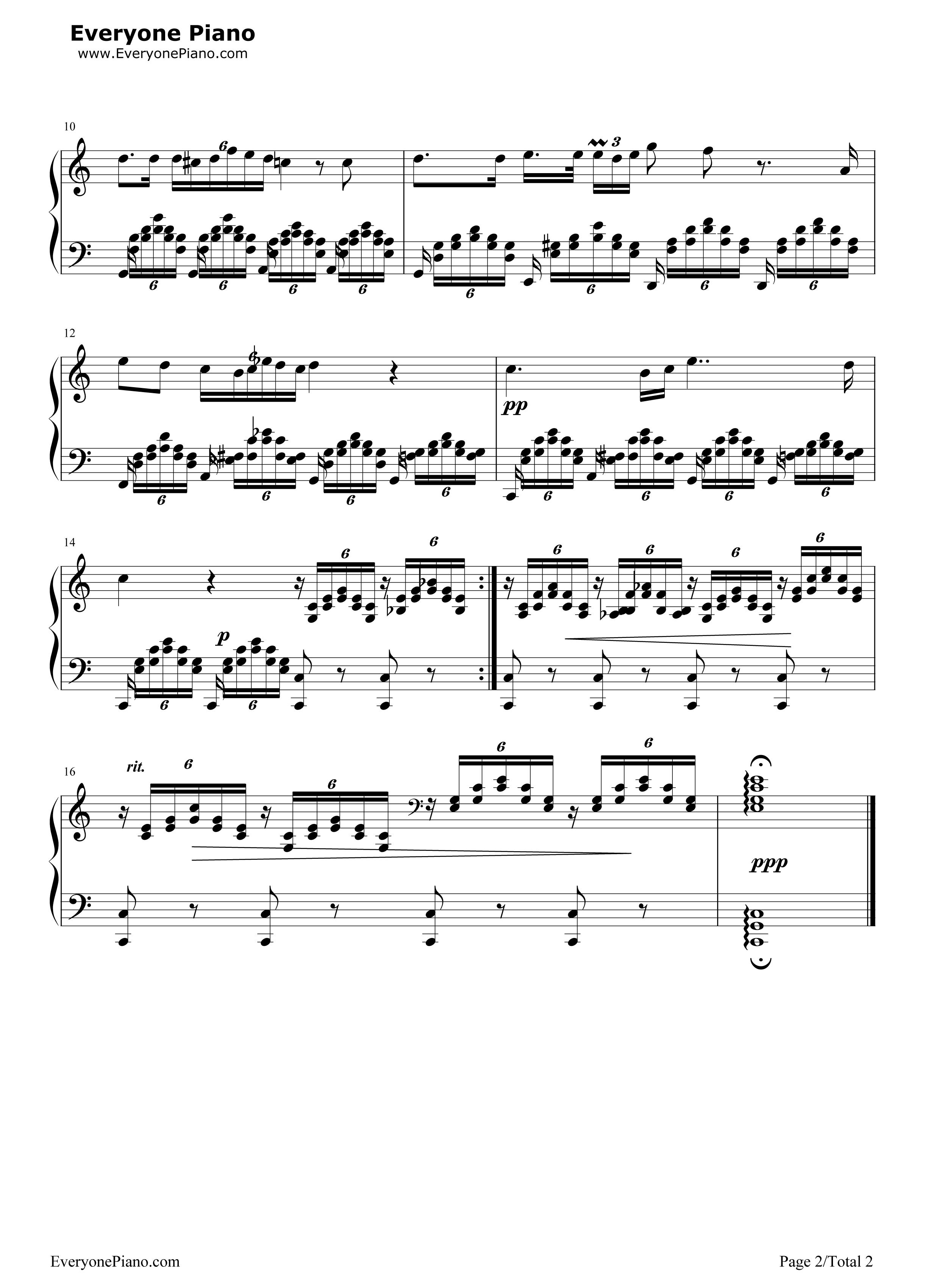 钢琴曲谱 经典 圣母颂-舒伯特 圣母颂-舒伯特五线谱预览2  }  仅供