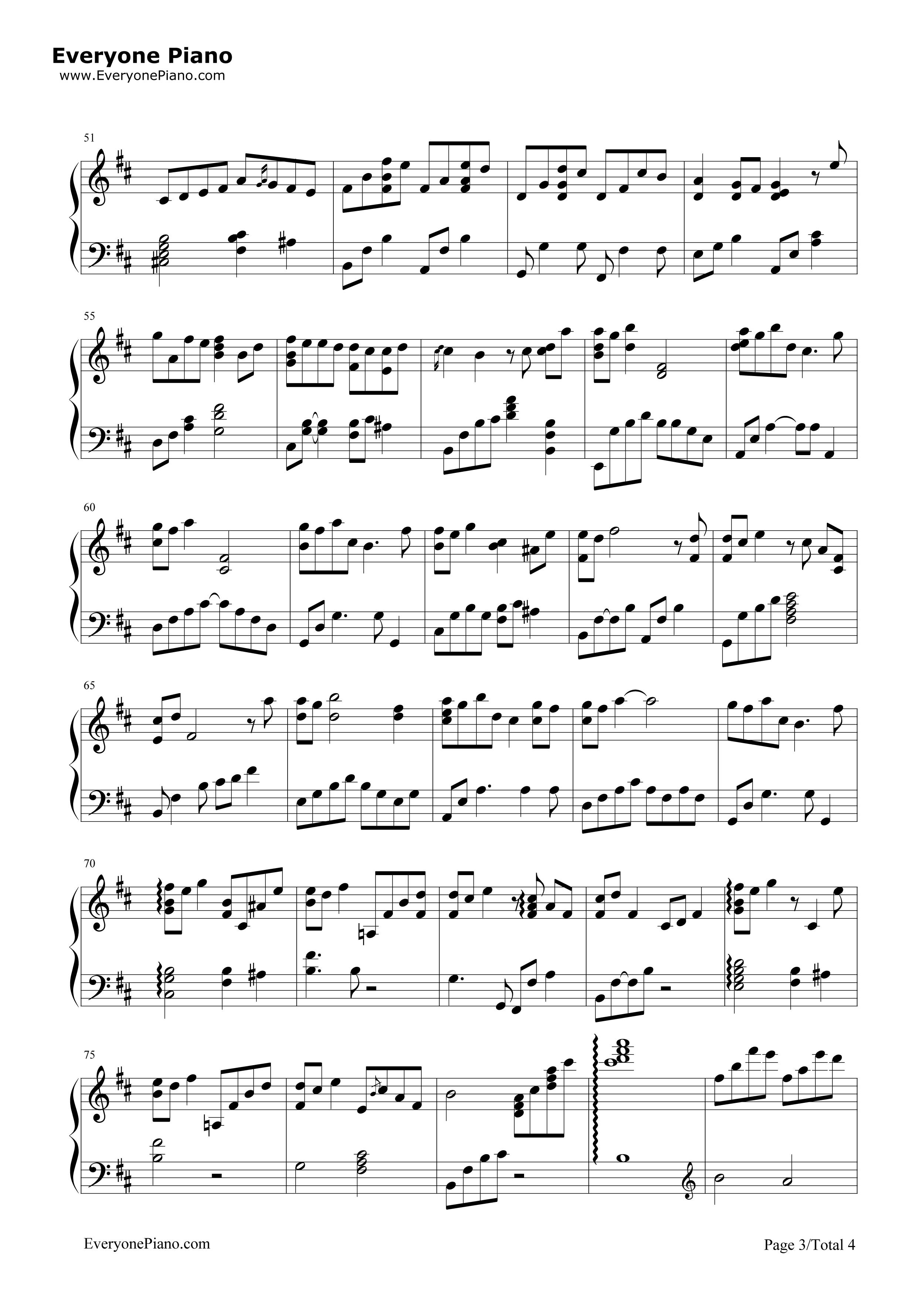 钢琴曲谱 轻音乐 hosiku星屑-藤岛裕之ai hosiku星屑-藤岛裕之ai