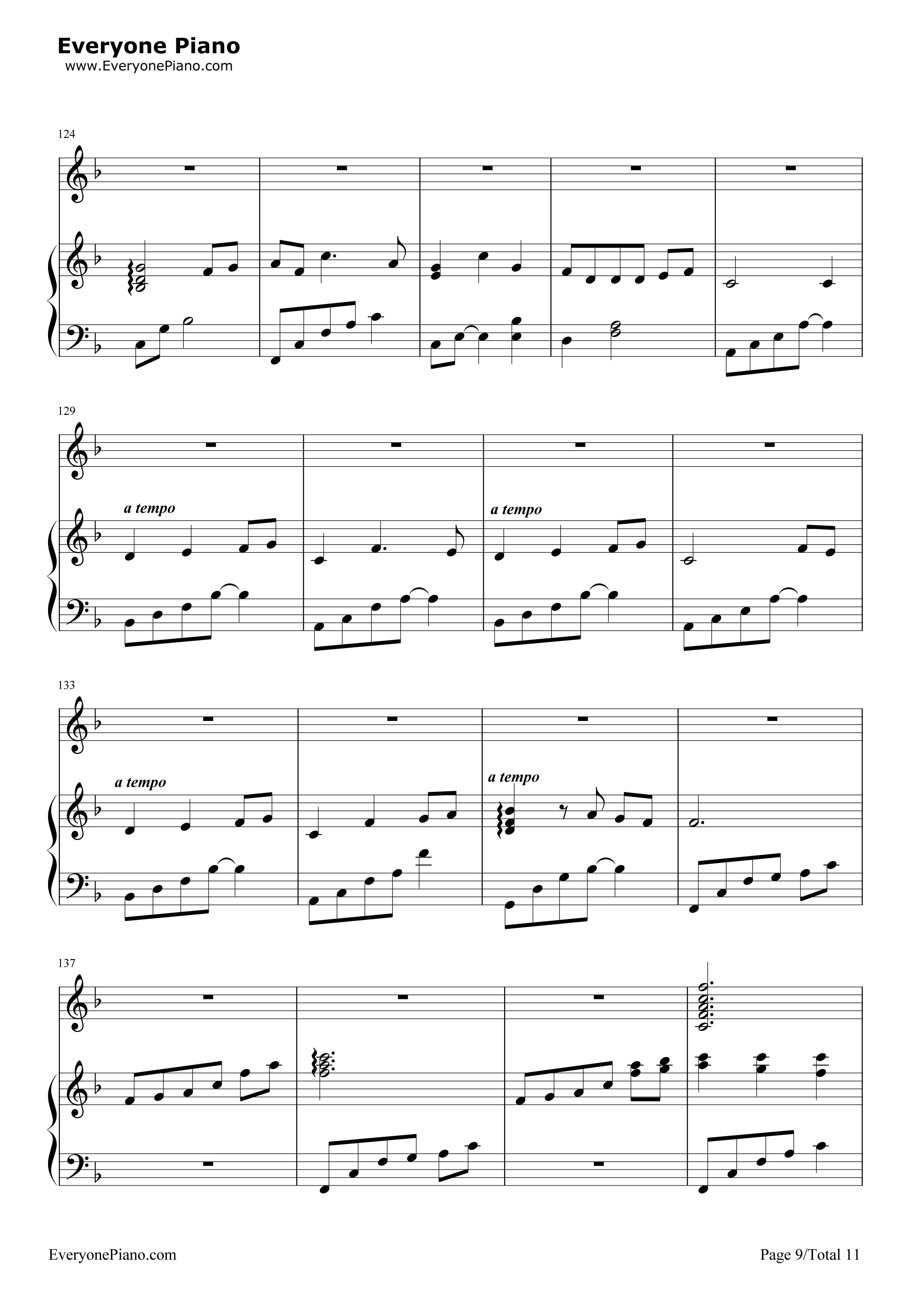 钢琴曲谱 轻音乐 千与千寻和卡农合奏-久石让 千与千寻和卡农合奏