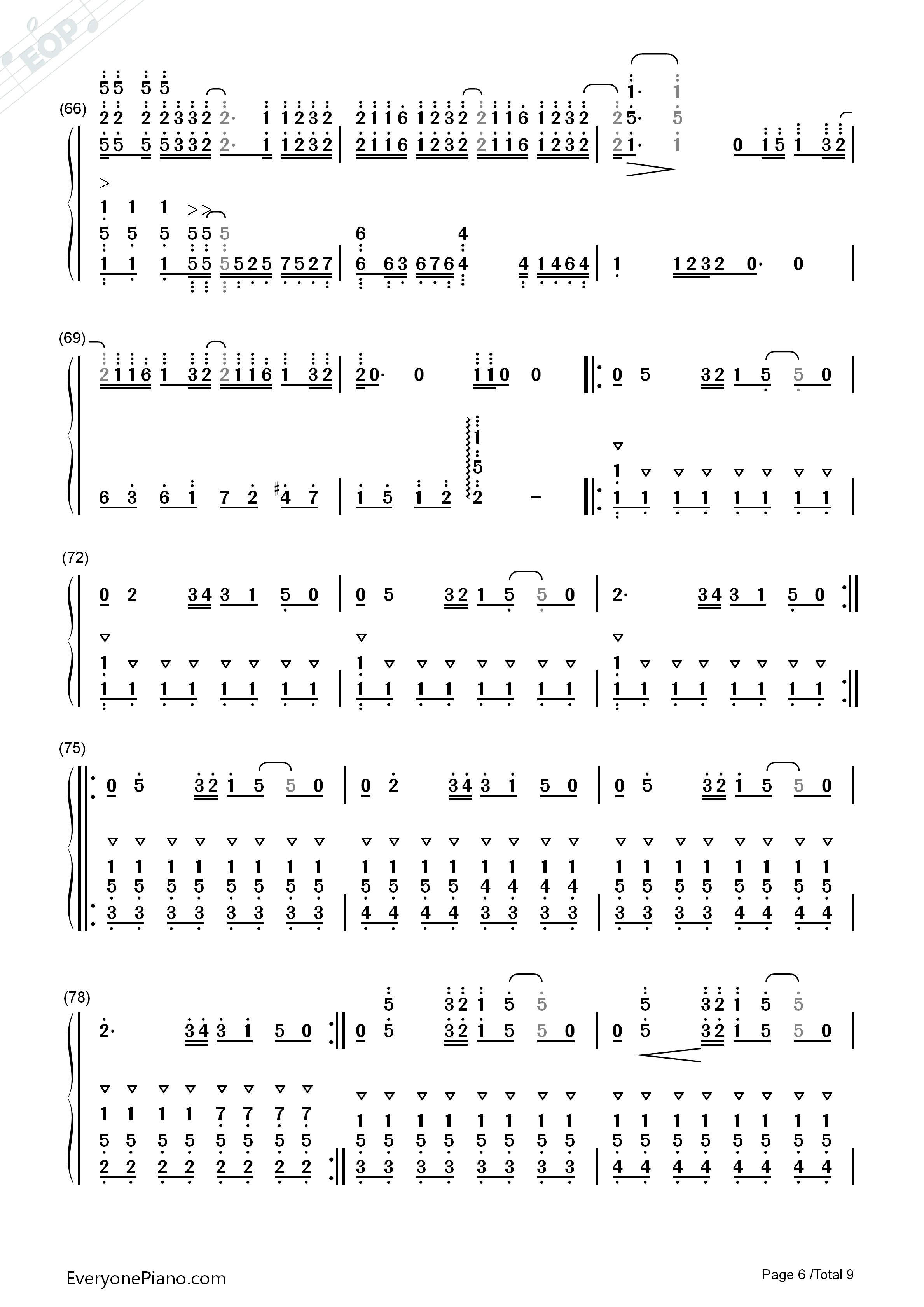 前前前世-难度版-《你的名字》主题曲双手简谱预览图片