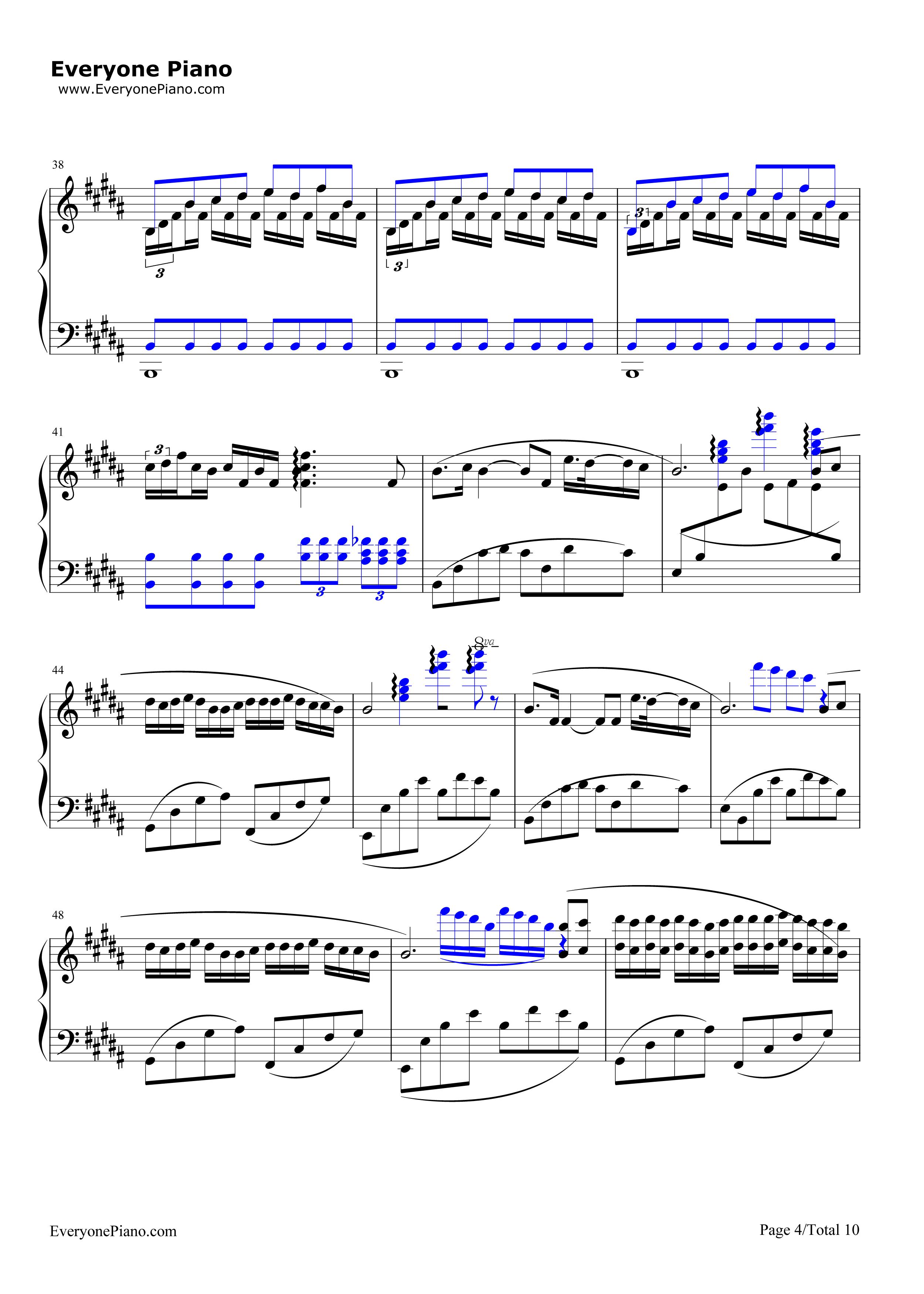 钢琴曲谱 影视 前前前世-难度版-《你的名字》主题曲 前前前世-难度版