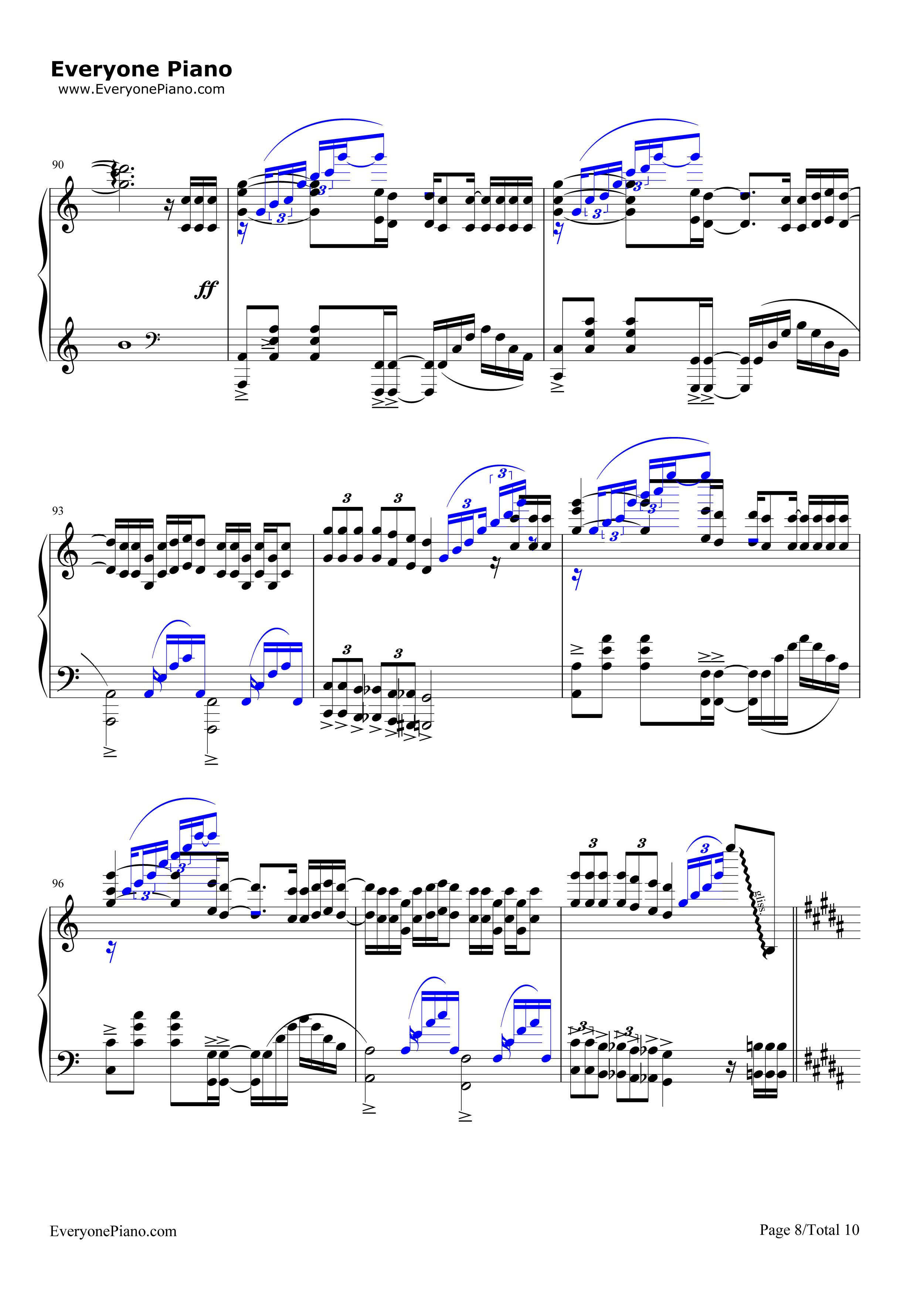 前前前世-难度版-《你的名字》主题曲五线谱预览8