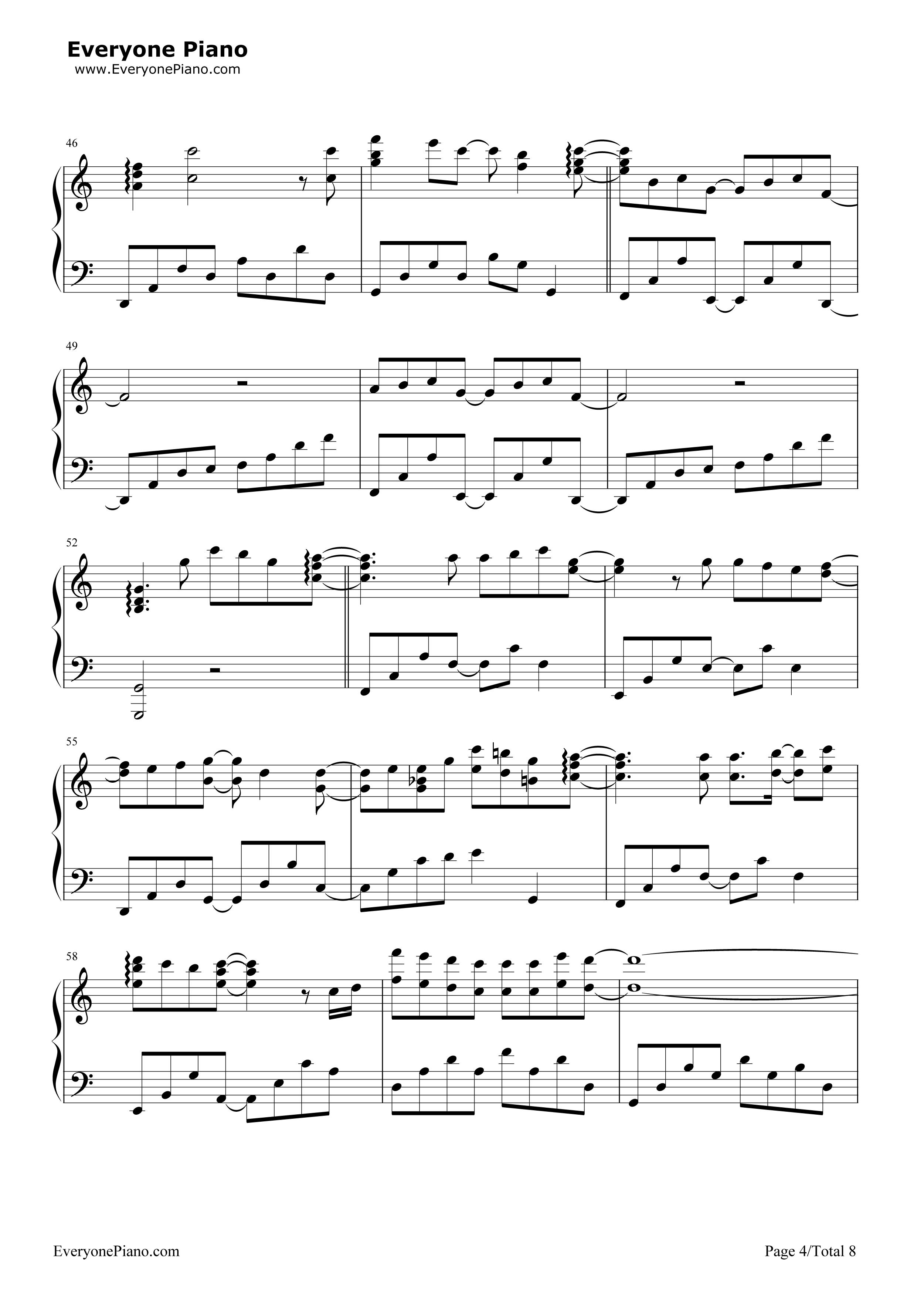 钢琴曲谱 流行 萤火-tfboys最新歌曲 萤火-tfboys最新歌曲五线谱预览4