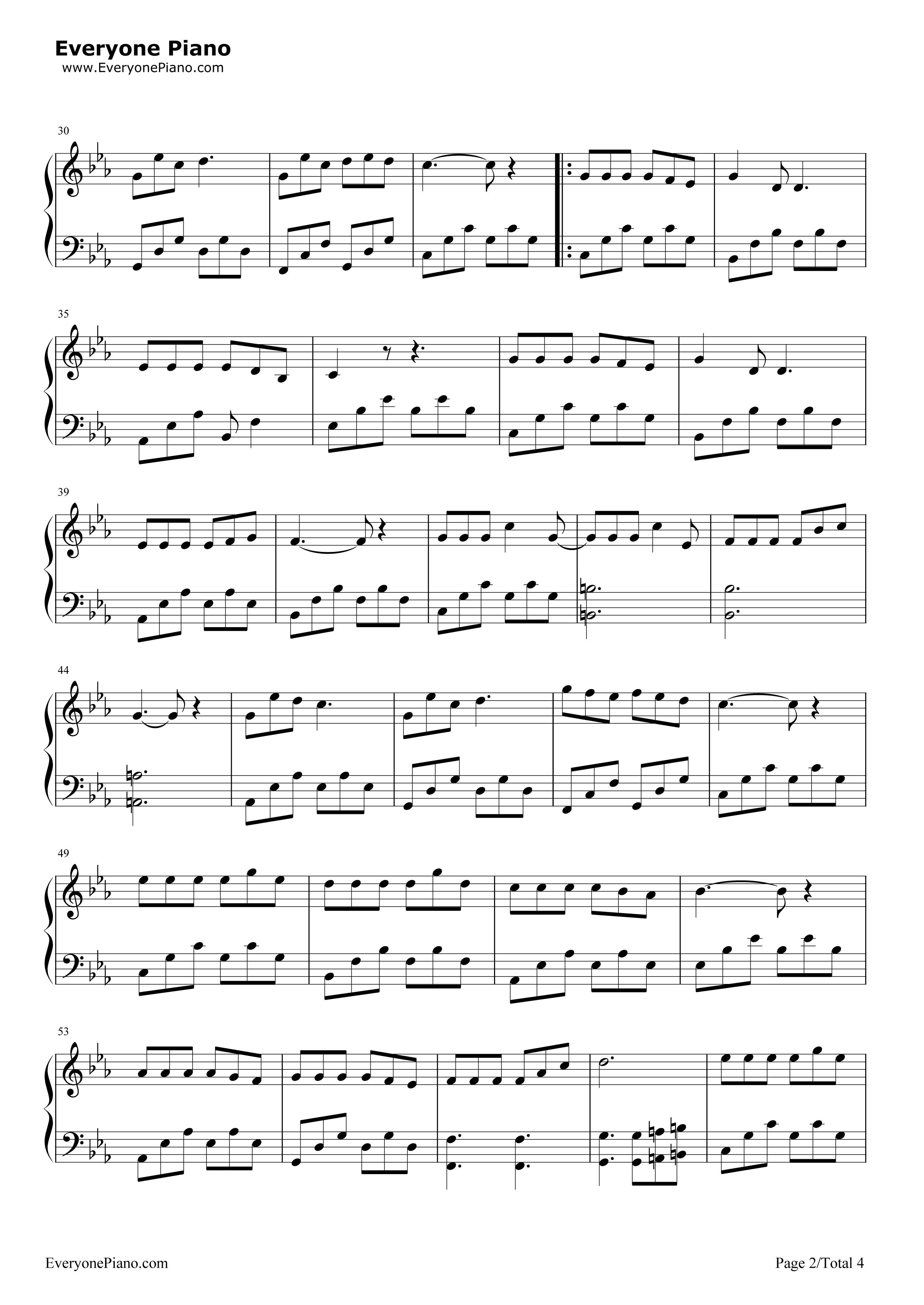 钢琴曲谱 影视 三生三世-电视剧《三生三世十裏桃花》op 三生三世