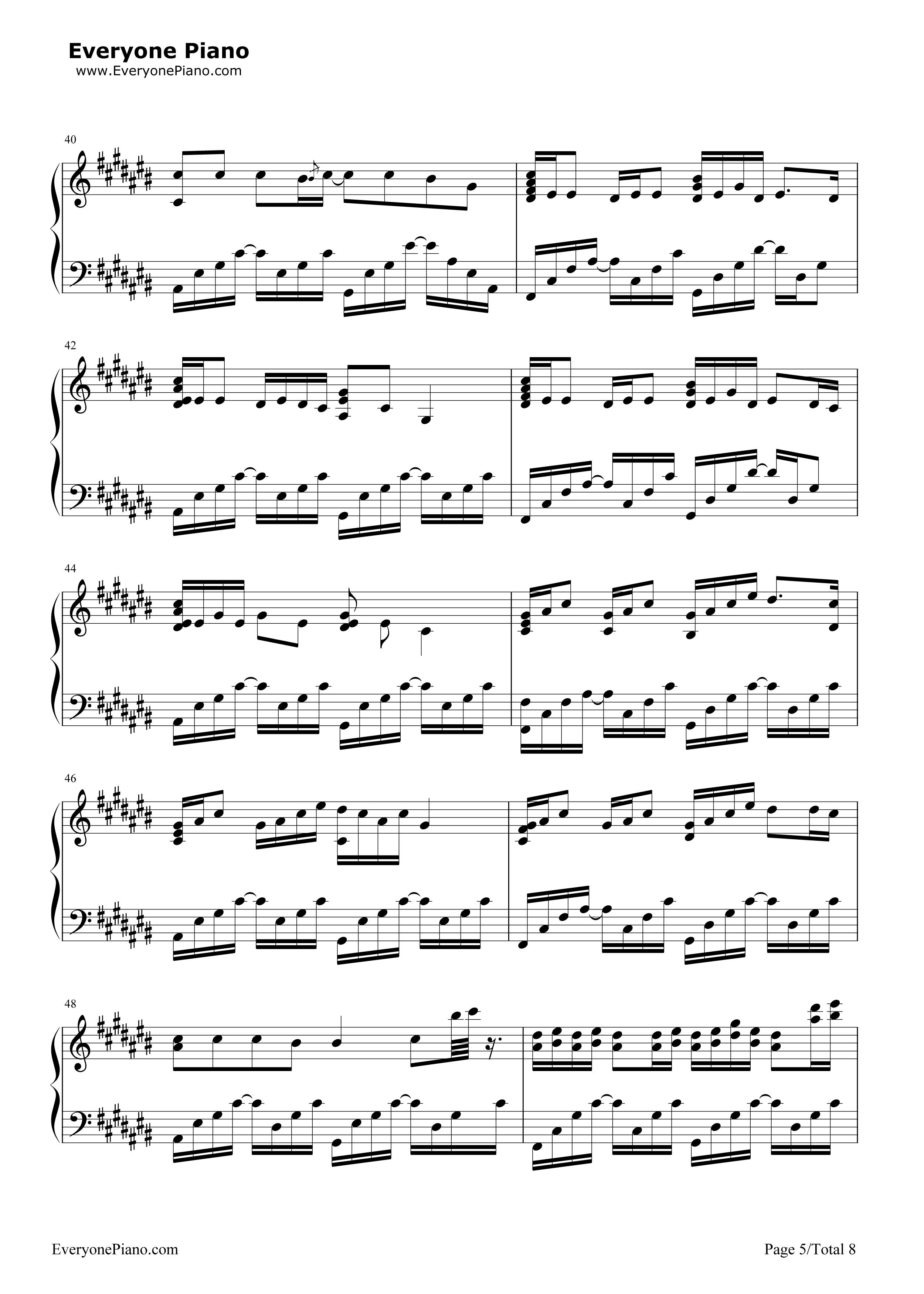 采茶纪-双笙五线谱预览5-钢琴谱档(五线谱,双手简谱