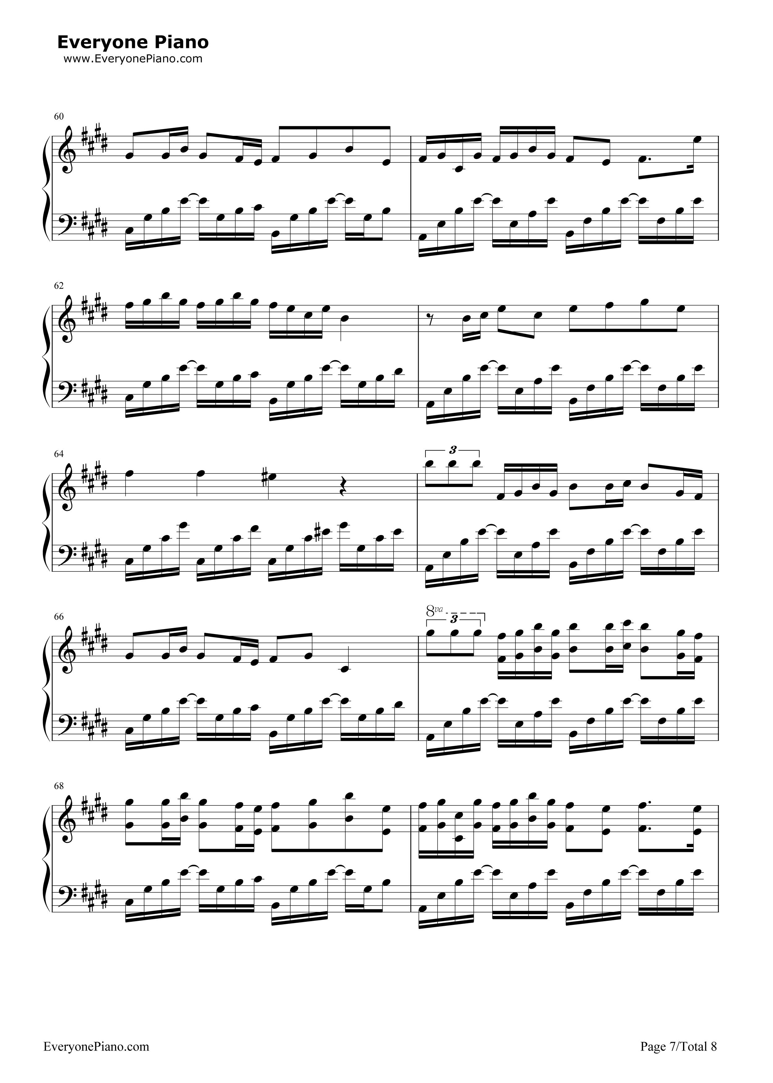 采茶纪-双笙五线谱预览7-钢琴谱(五线谱,双手简谱)