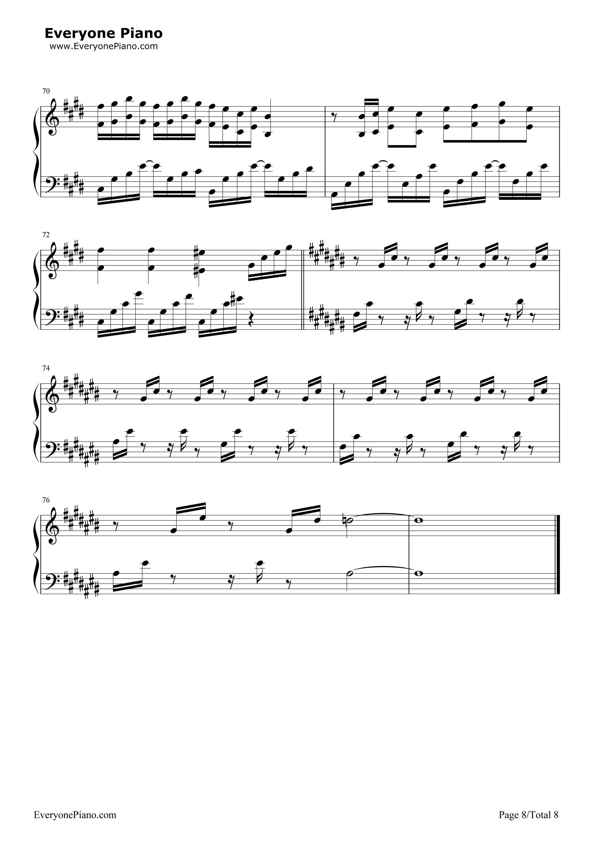 采茶纪-双笙五线谱预览8-钢琴谱(五线谱,双手简谱)