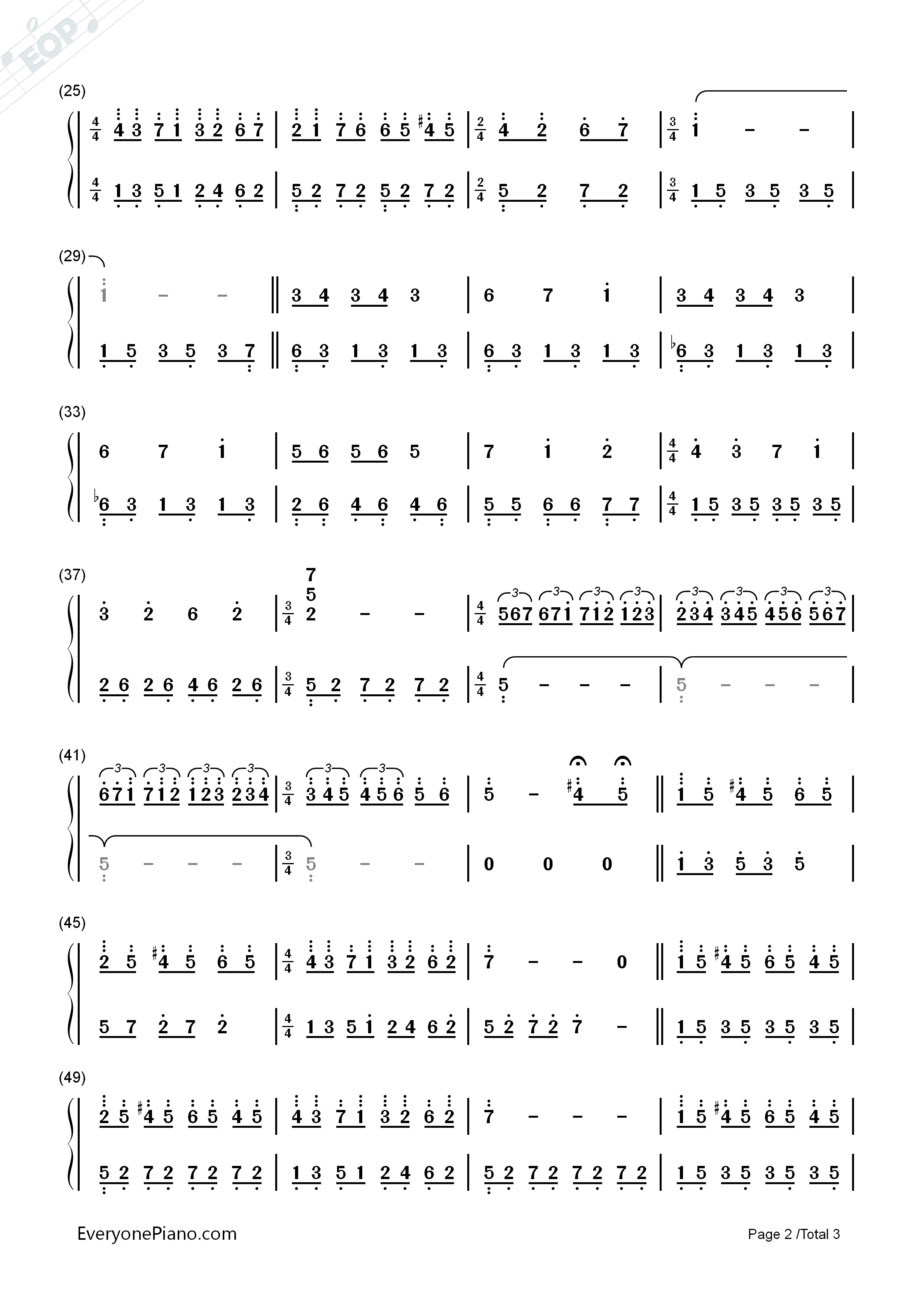 钢琴曲谱 轻音乐 爱的旋律-理查德克莱德曼 爱的旋律-理查德克莱德曼