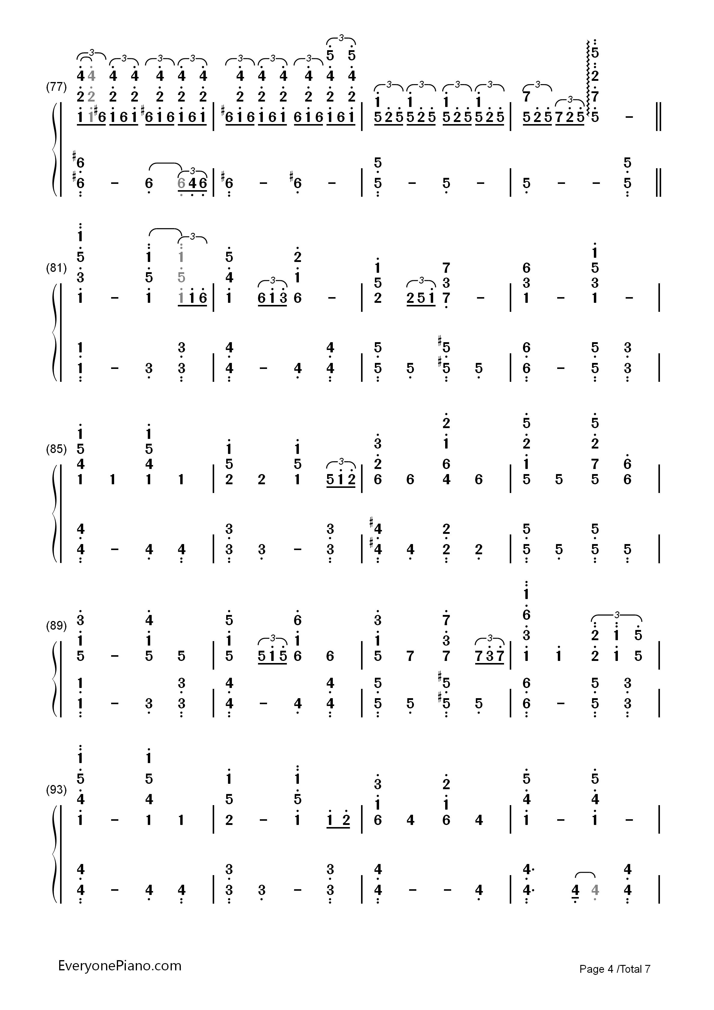 火花-《你的名字》插曲双手简谱预览图片