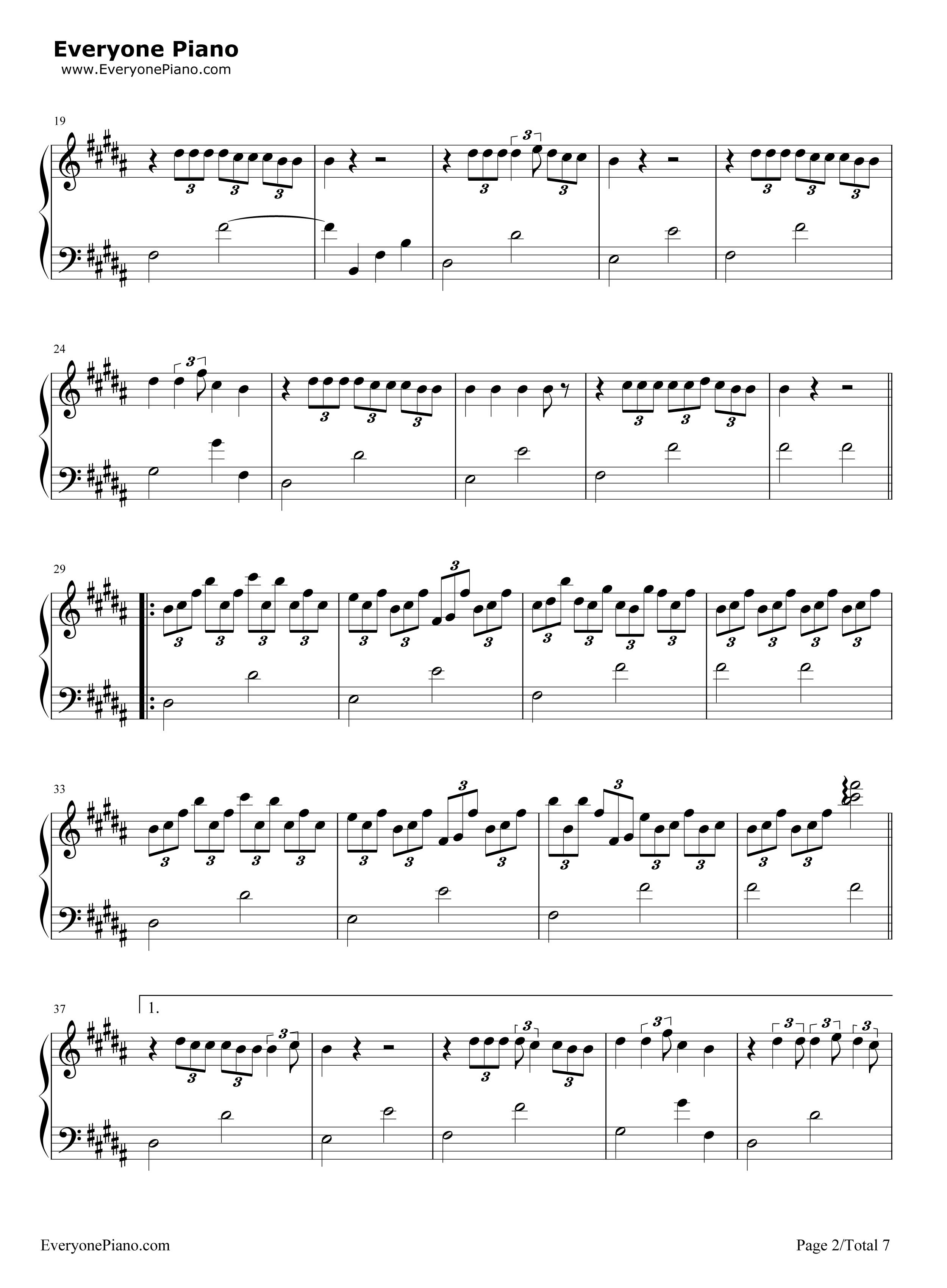 火花-《你的名字》插曲五线谱预览2