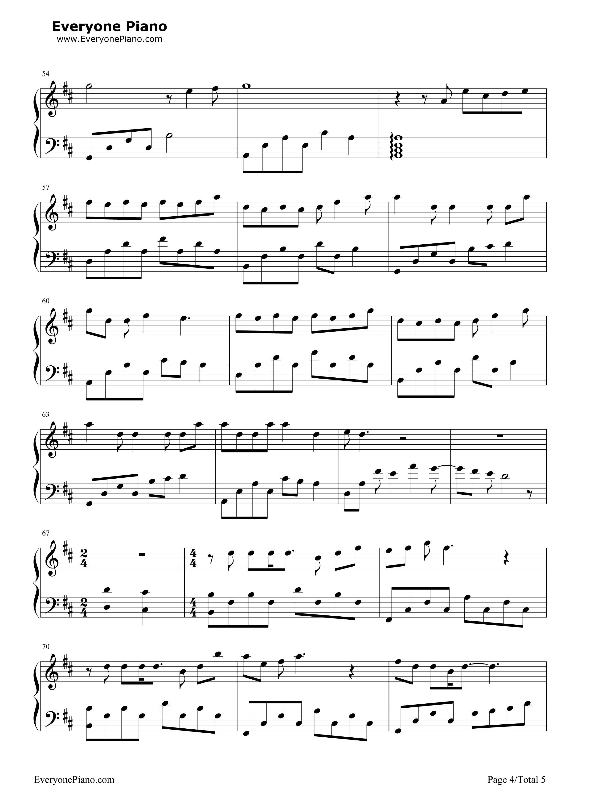 坏天气-孙燕姿五线谱预览4-钢琴谱档(五线谱,双手简谱