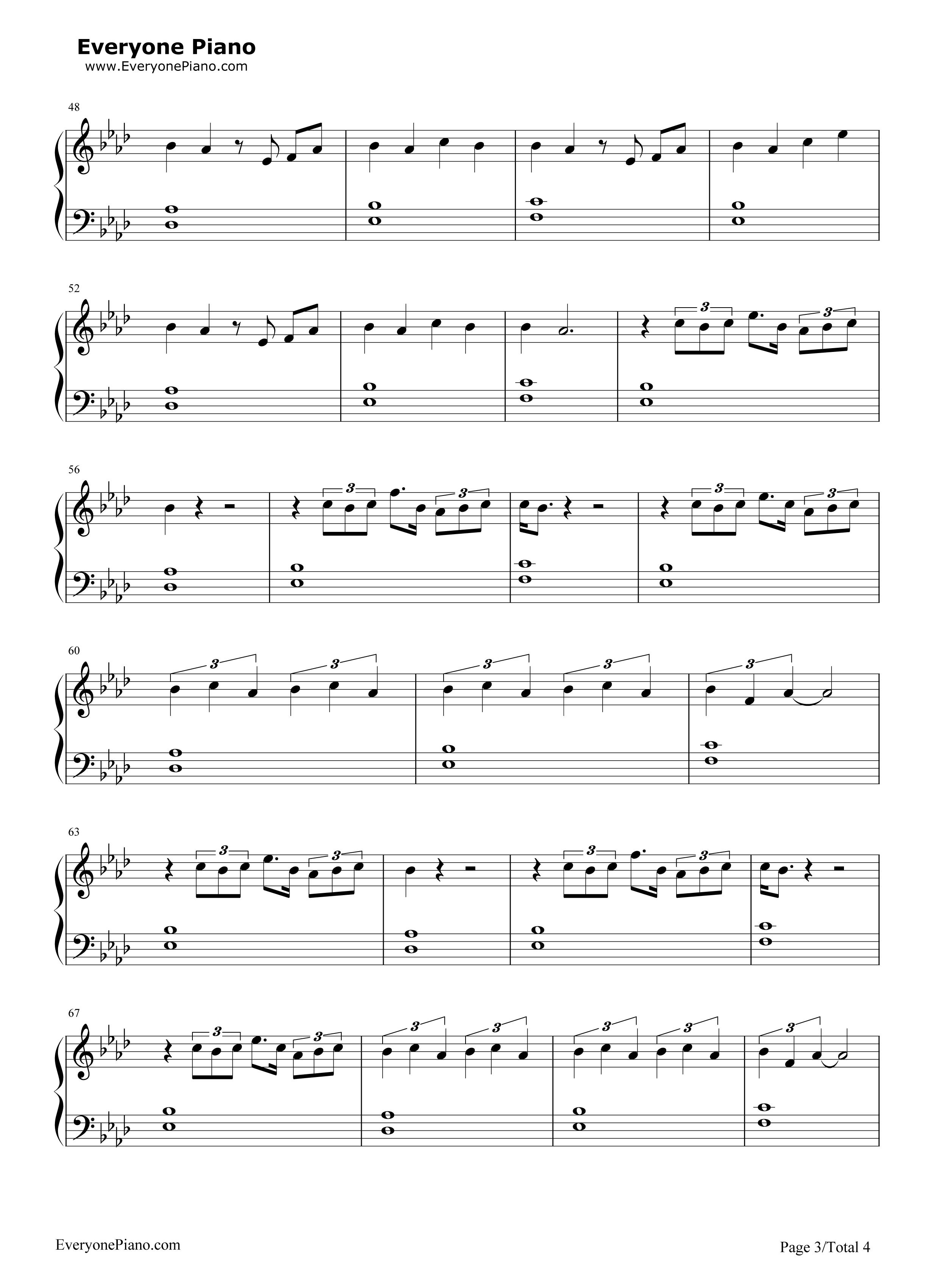 如果what if i said-鹿晗五线谱预览3-钢琴谱(五线谱
