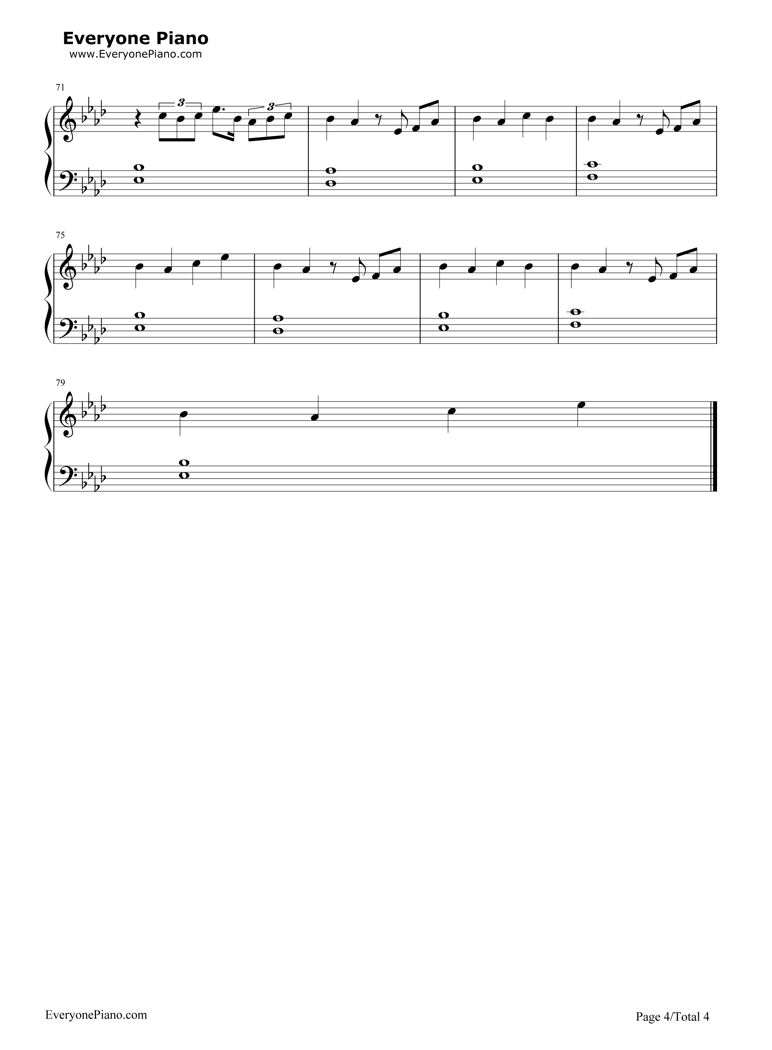 如果what if i said-鹿晗五线谱预览4-钢琴谱(五线谱