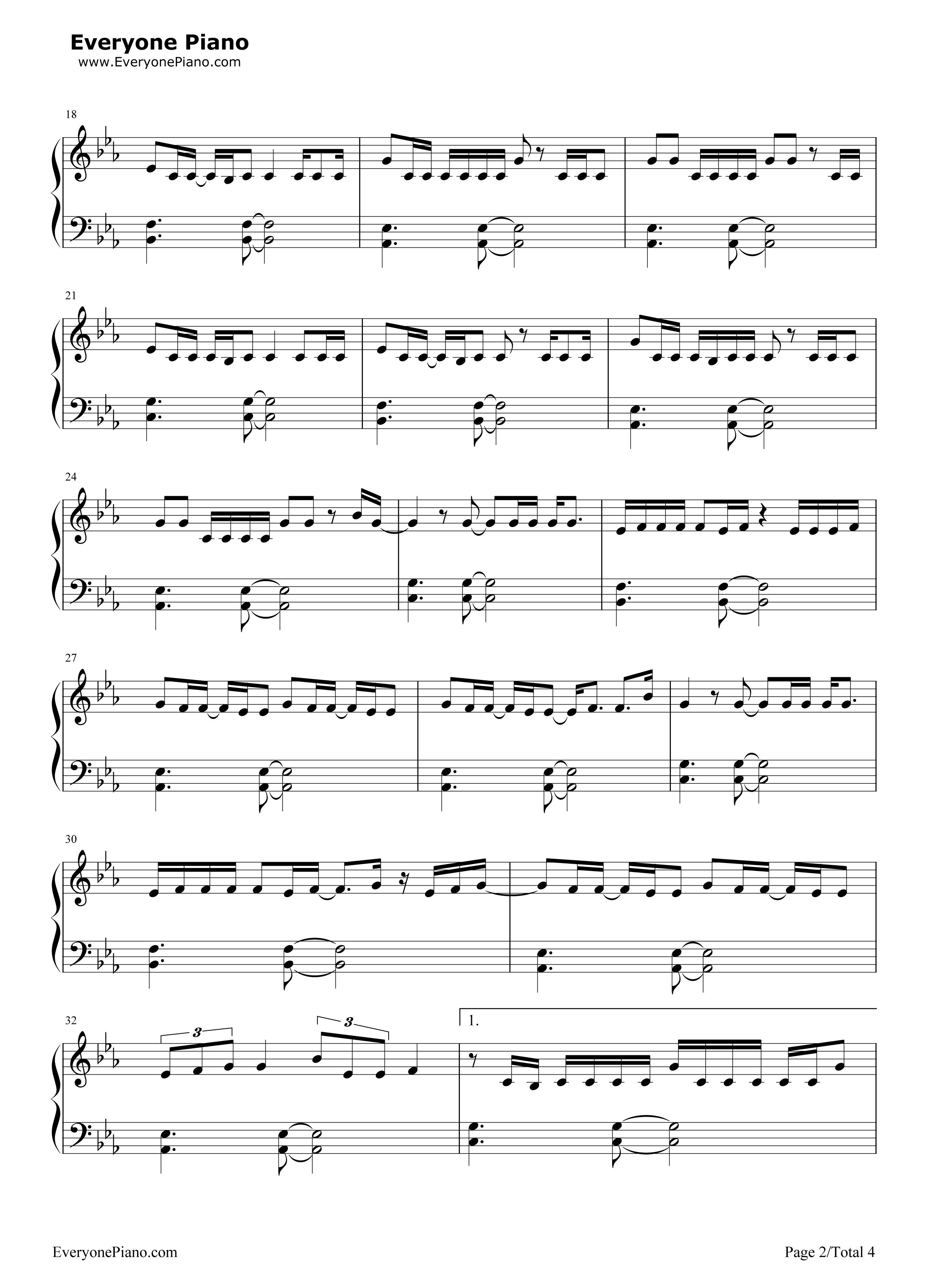 钢琴曲谱 流行 never ever-got7 never ever-got7五线谱预览2  }