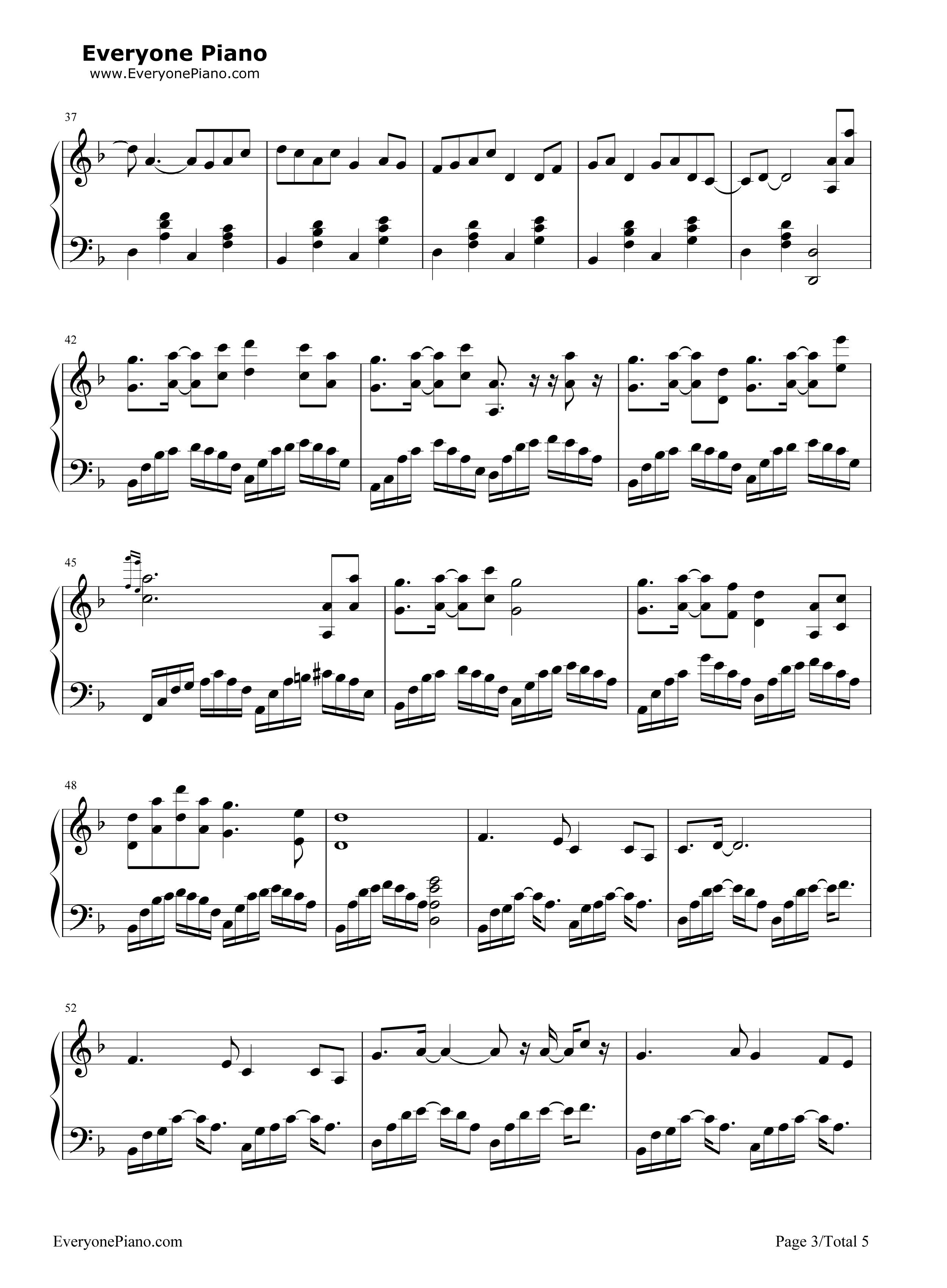 牵丝戏钢琴简谱