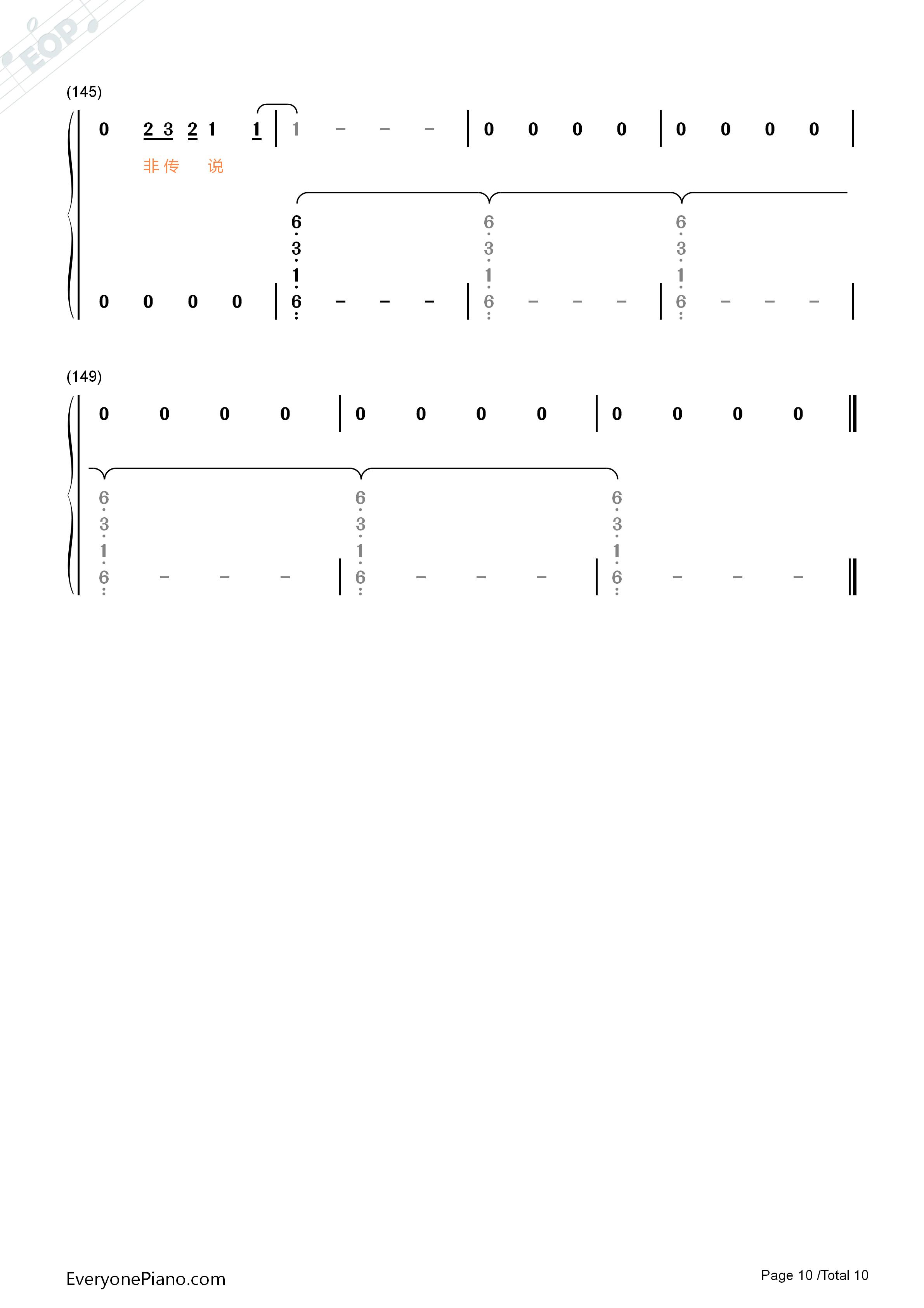 星辰-择天记片头曲双手简谱预览10