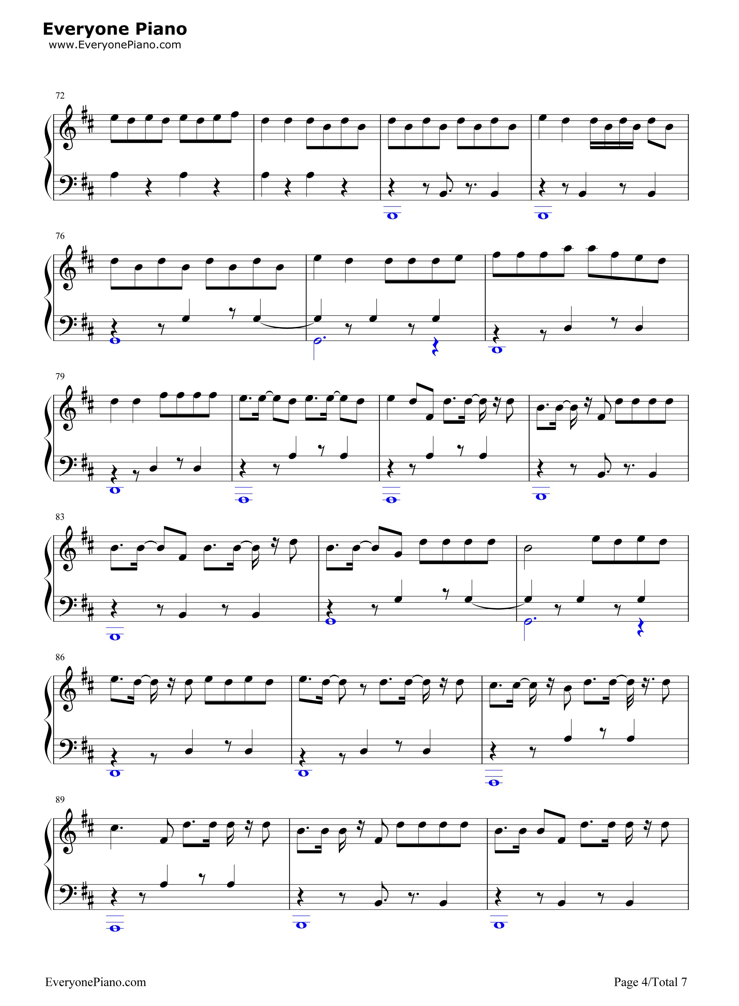 despacito简单版-luis fonsi五线谱预览4