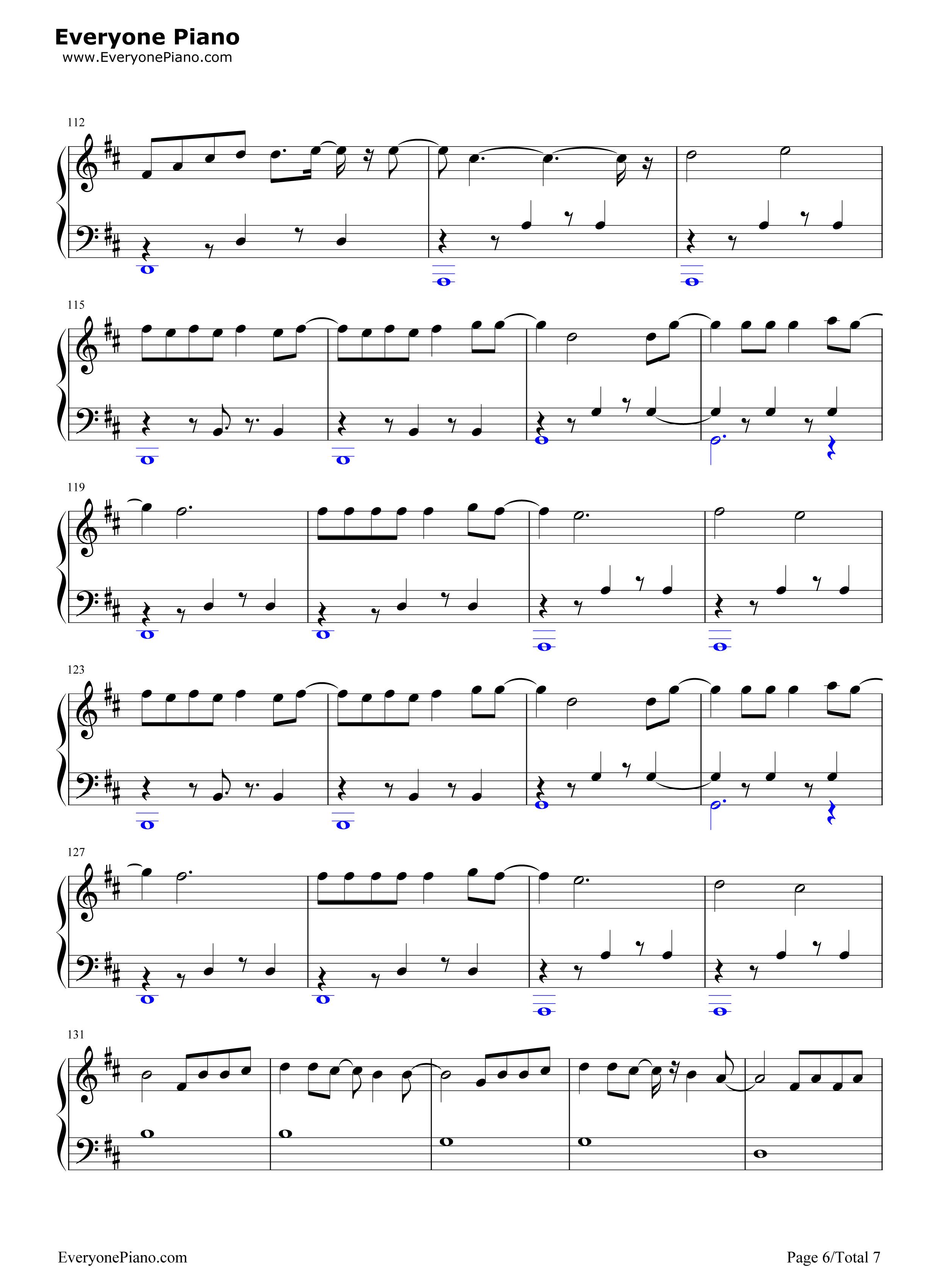despacito简单版-luis fonsi五线谱预览6图片