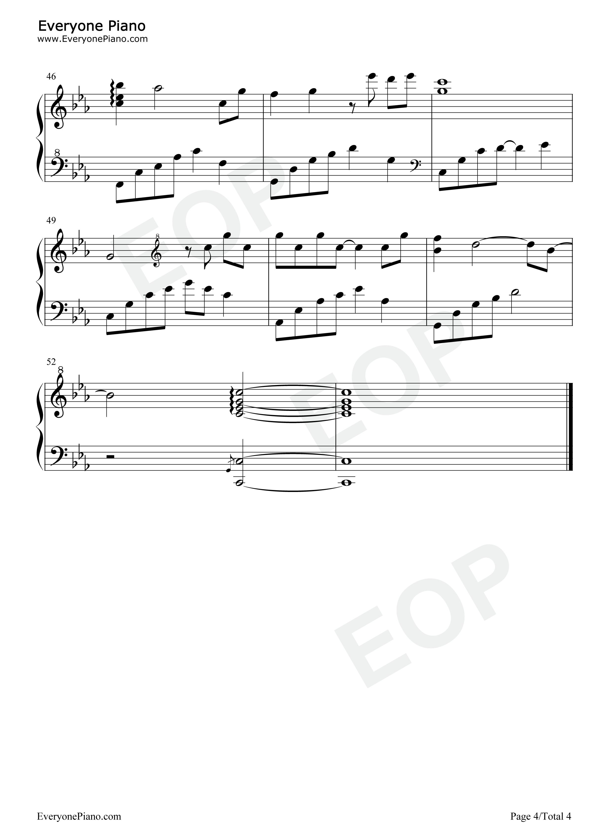伤恋-夜的钢琴曲Ⅲ五线谱预览4