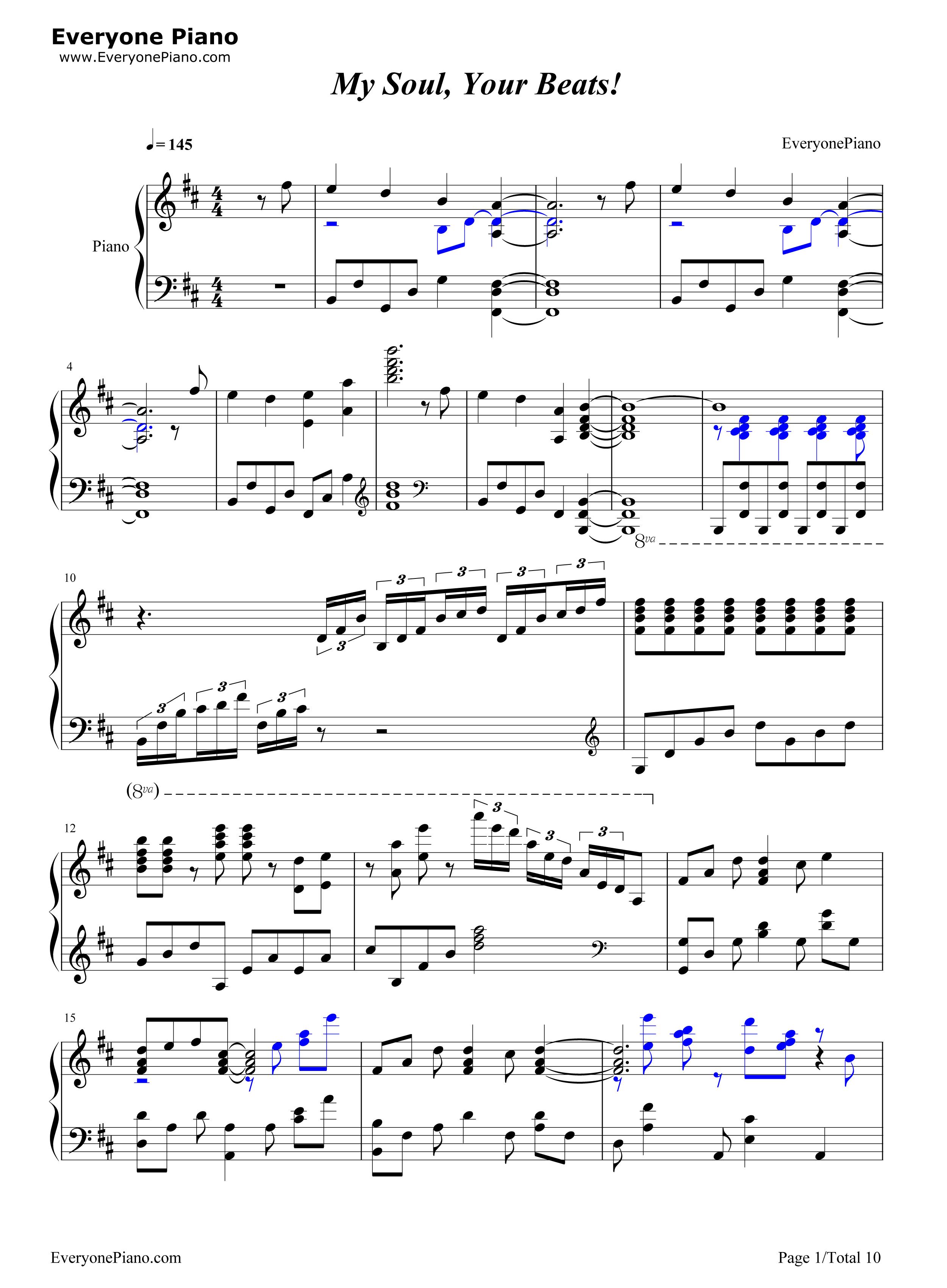 angel beats钢琴曲谱