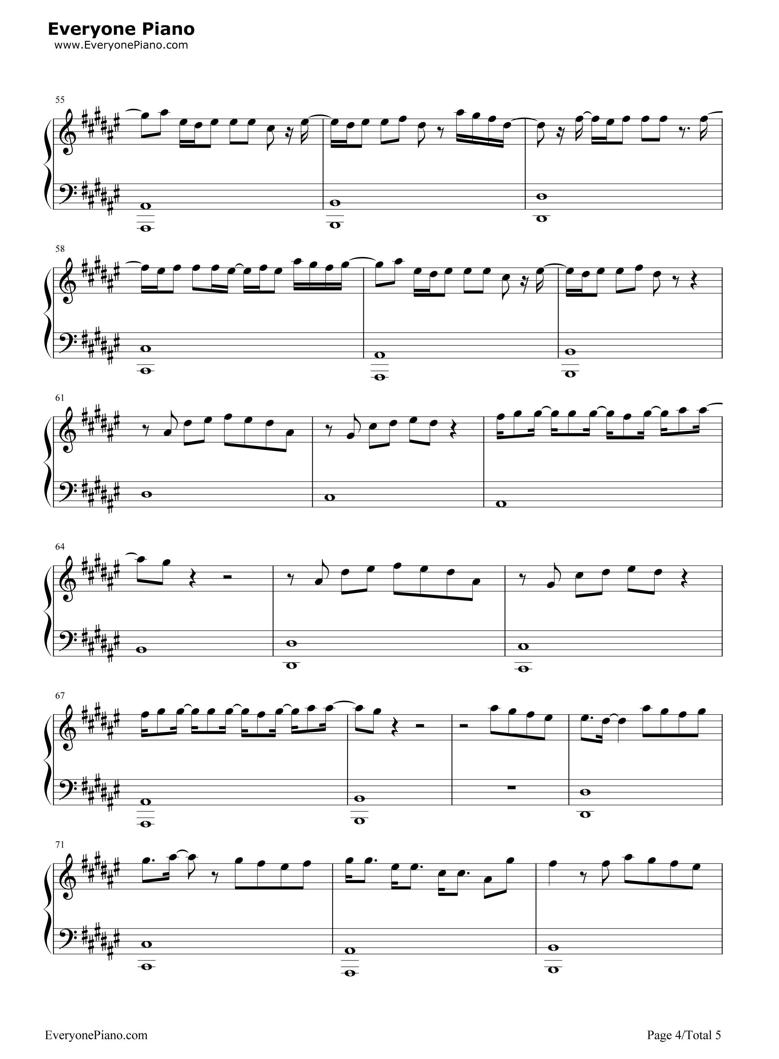 五线谱预览4 钢琴谱档 五线谱 双手简谱 数位谱 Midi PDF 免费下载