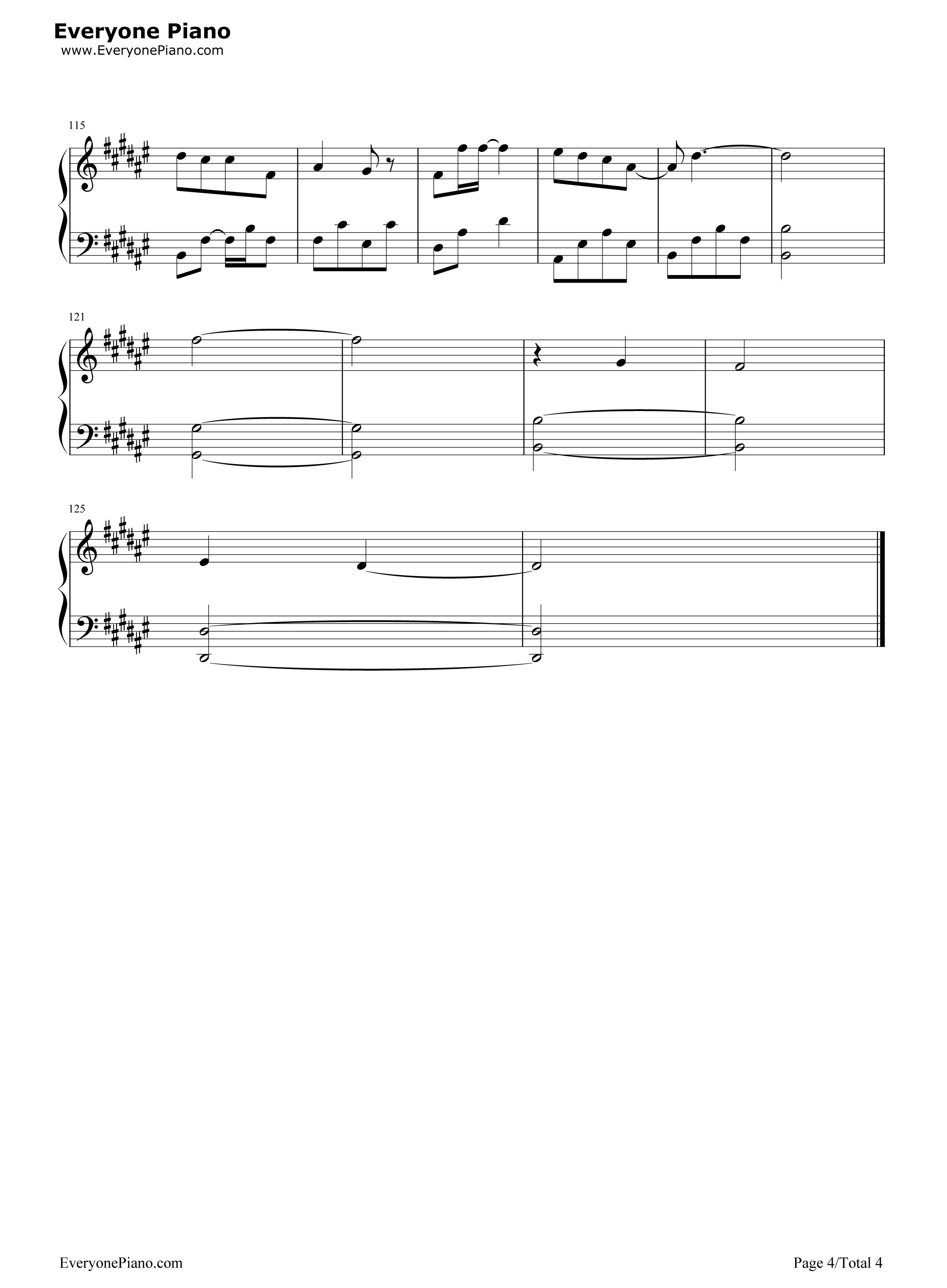 注定-择天记片尾曲五线谱预览4