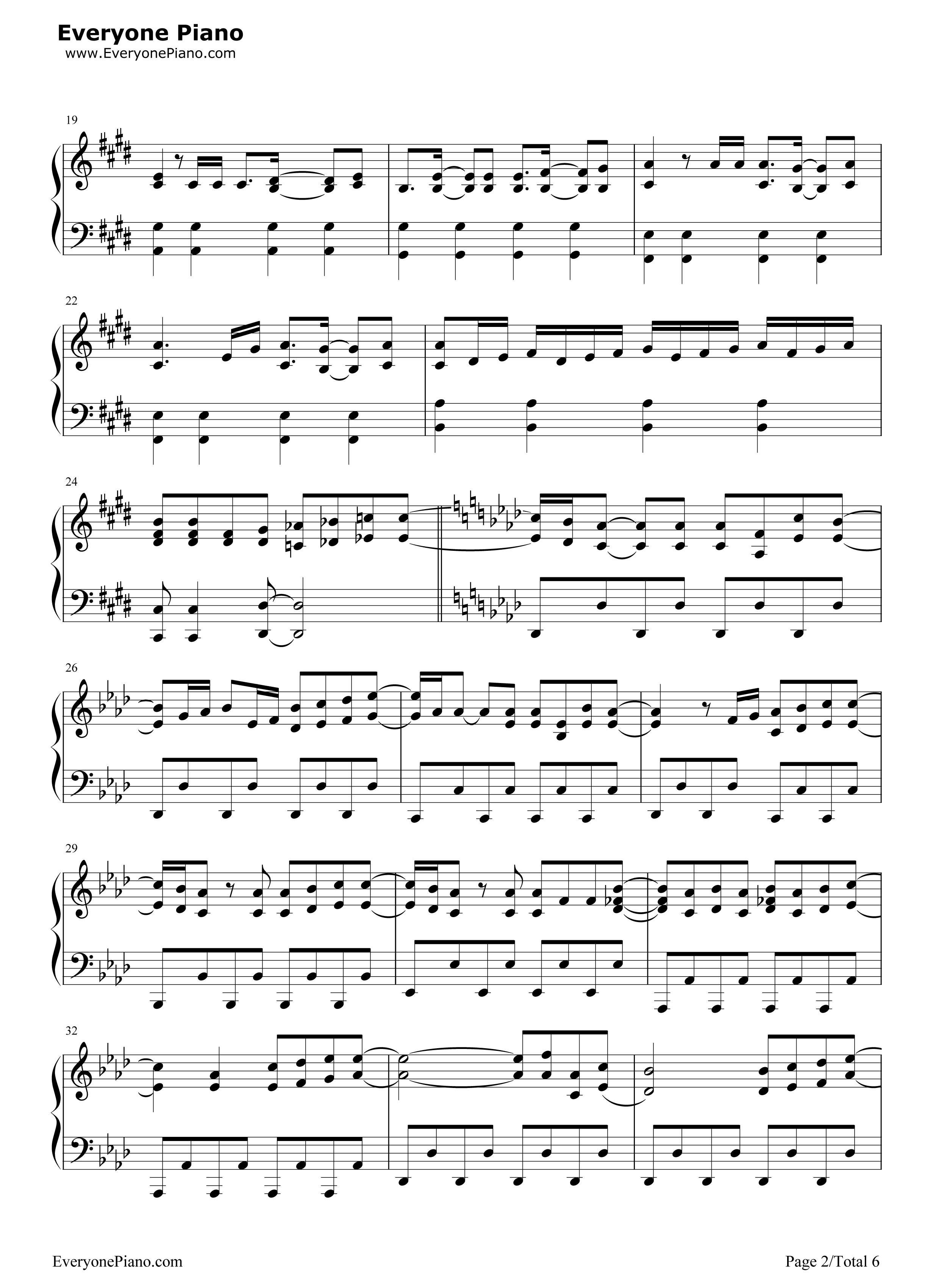 钢琴曲谱 流行 好日子-李知恩 好日子-李知恩五线谱预览2  }  仅供