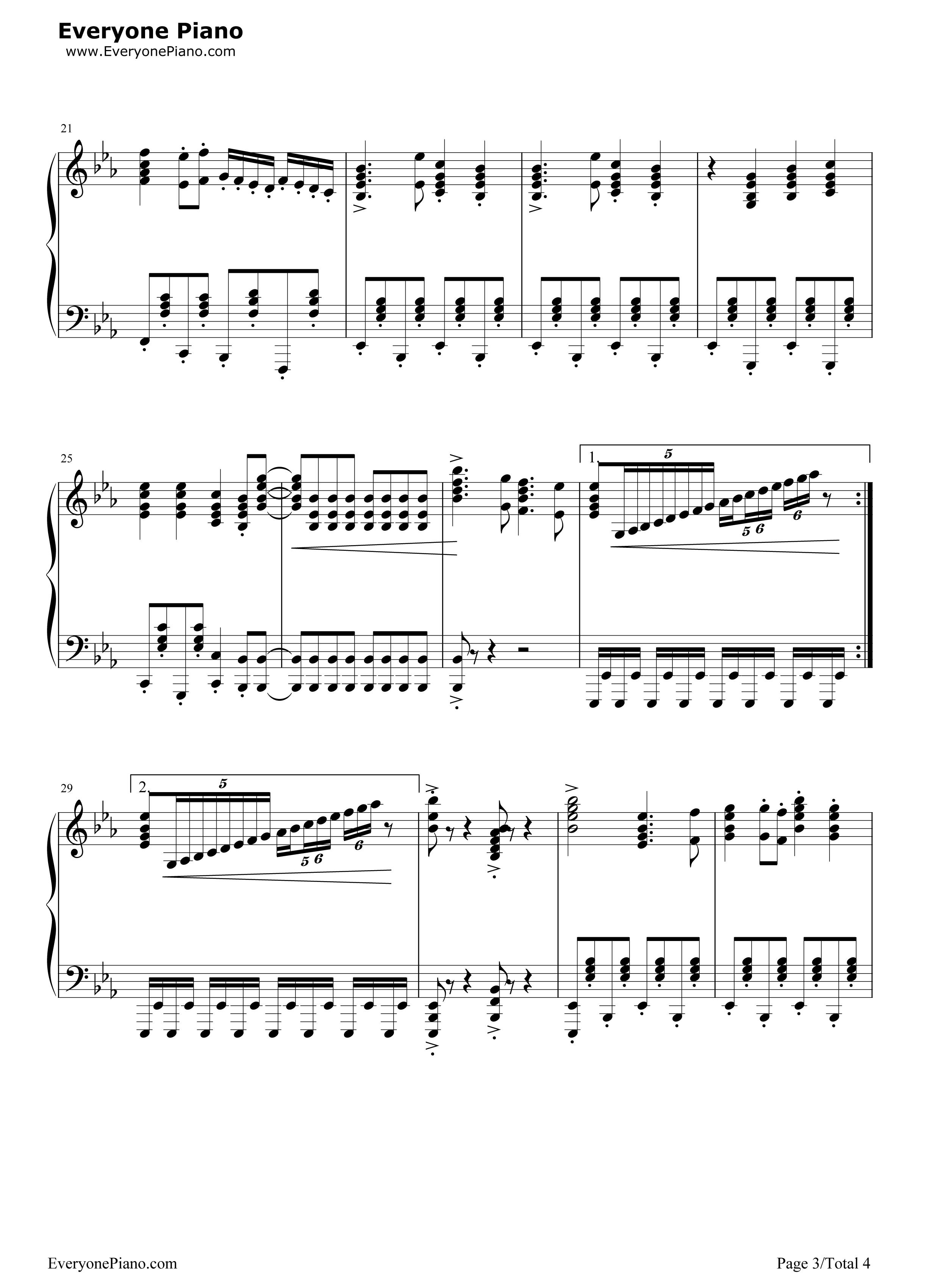 通天大道宽又阔-西游记续集片头曲五线谱预览3-钢琴谱