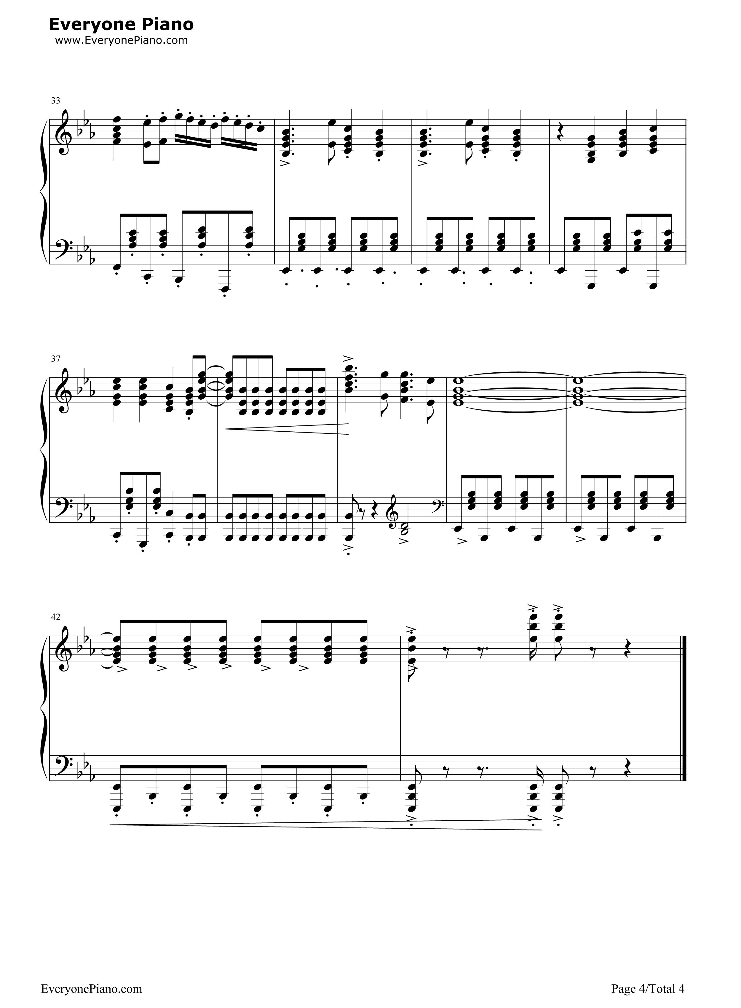 通天大道宽又阔-西游记续集片头曲五线谱预览4-钢琴谱