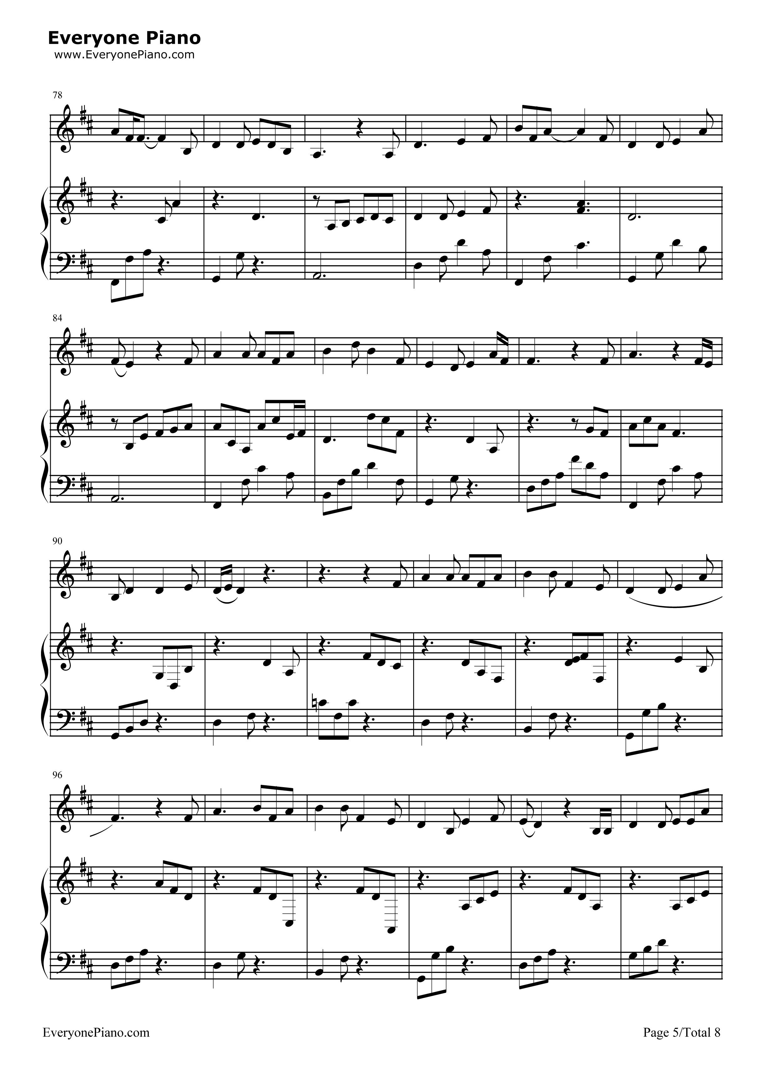 钢琴曲谱 流行 成都-弹唱版 成都-弹唱版五线谱预览5  }  仅供学习