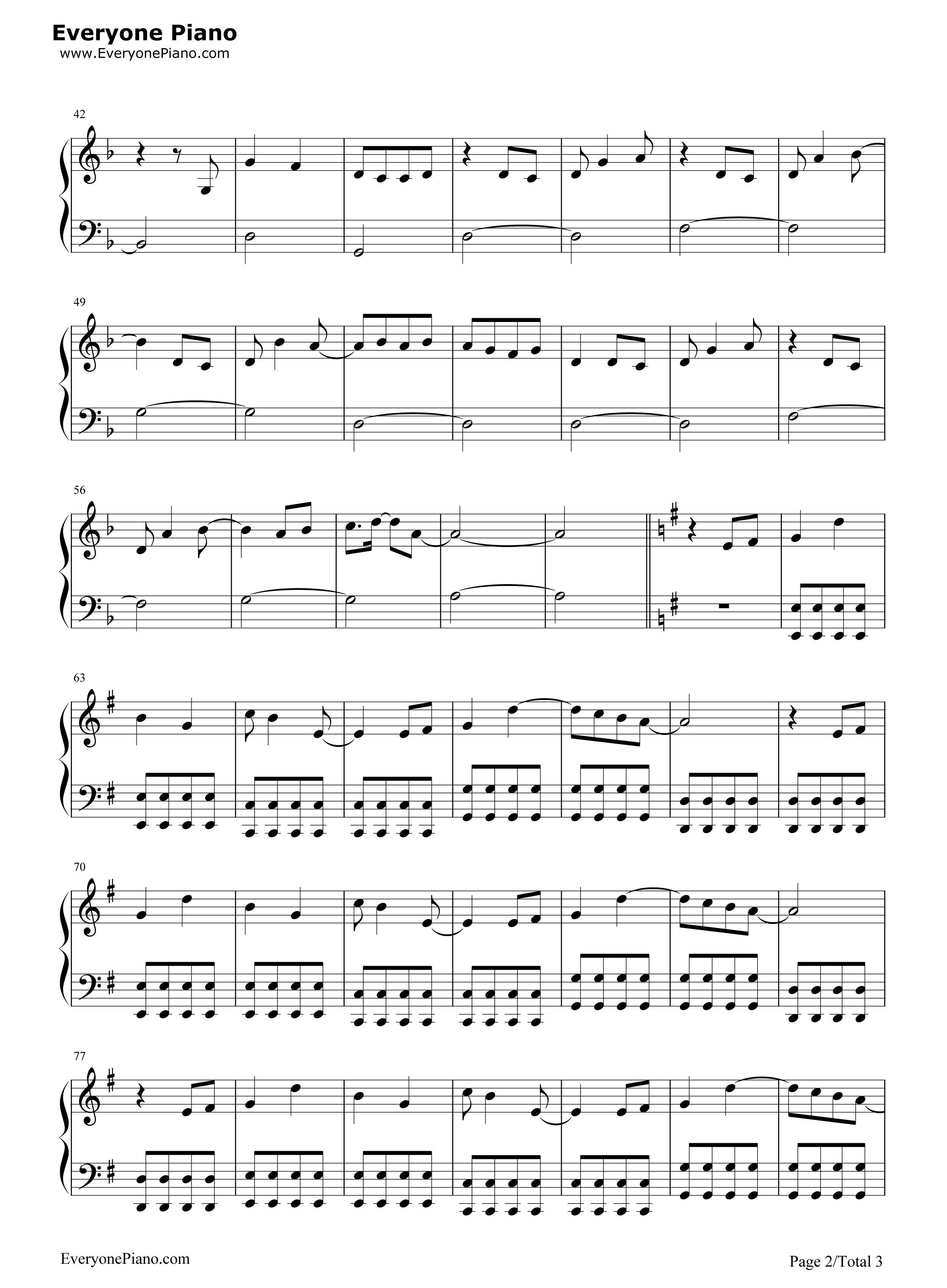 钢琴曲谱 流行 心之焰-楚乔传片尾曲 心之焰-楚乔传片尾曲五线谱预览2