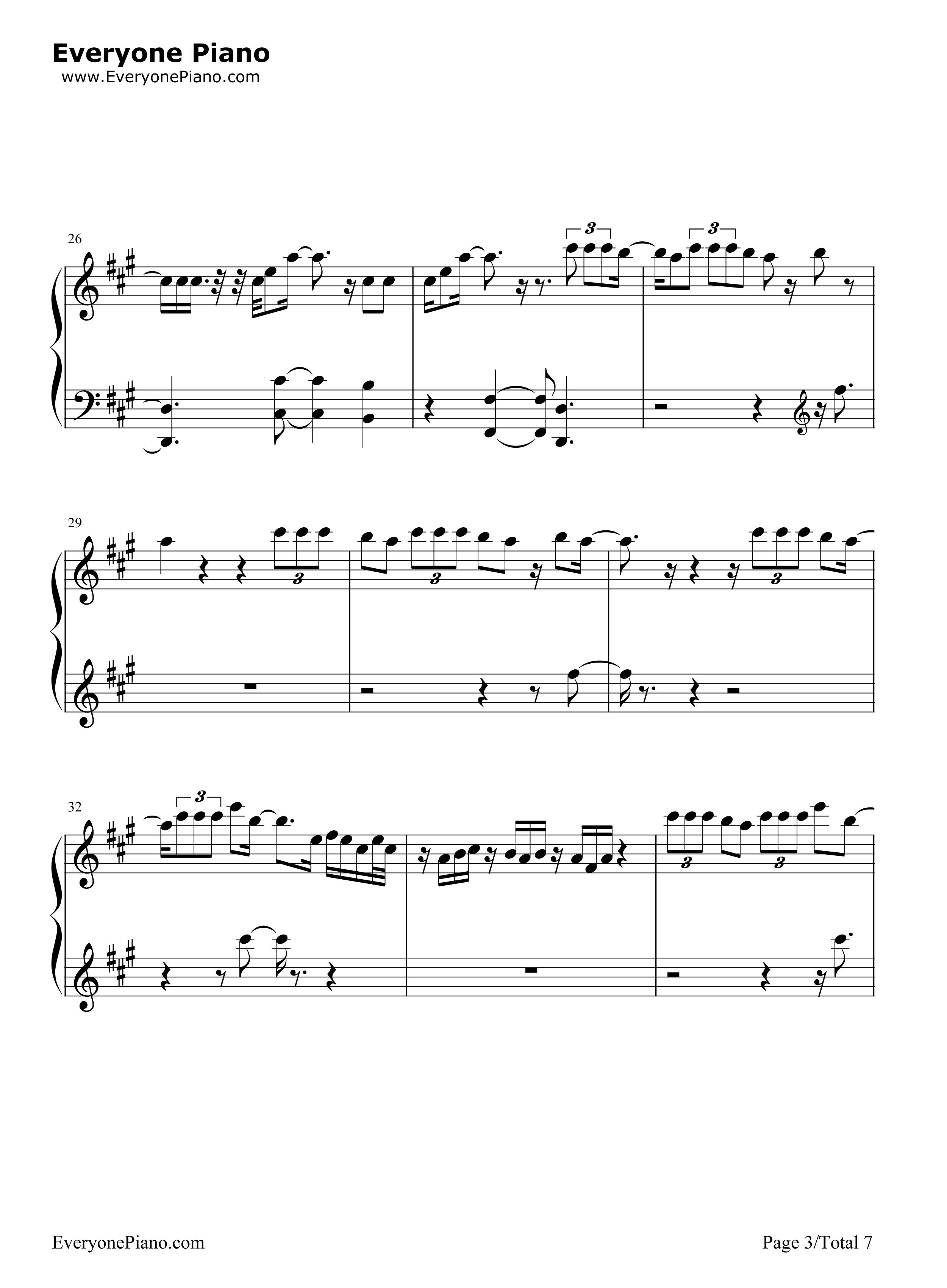 Most Girls Hailee Steinfeld五线谱预览3 钢琴谱档 五线谱 双手简谱 数位