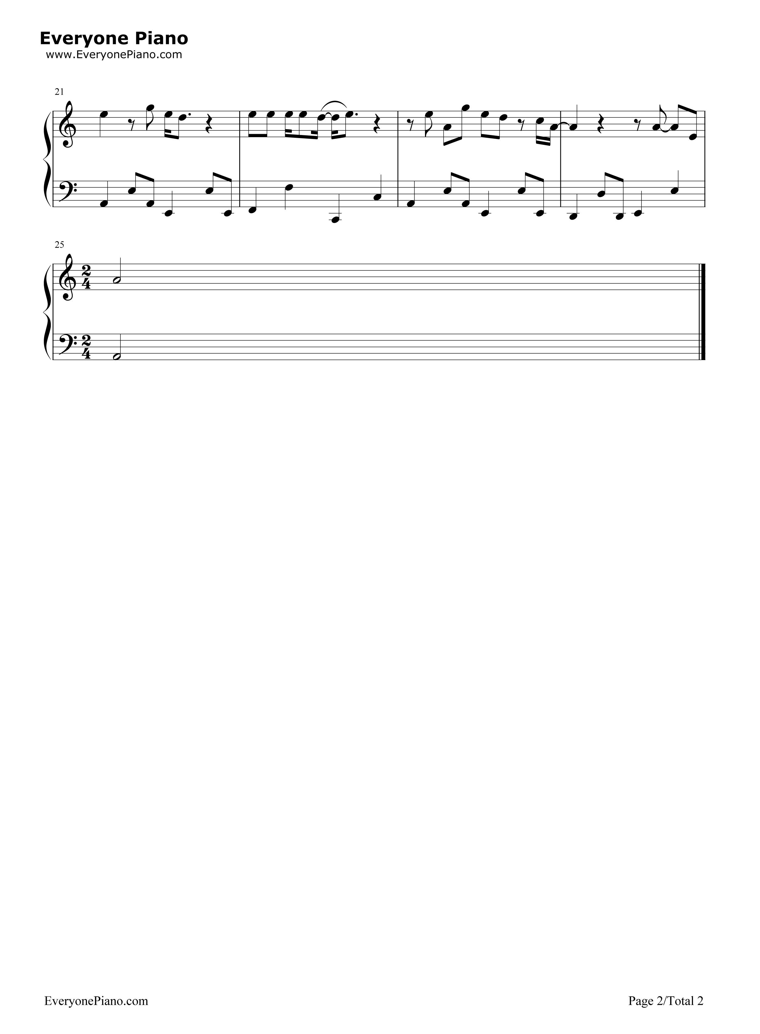 男孩-梁博五线谱预览2-钢琴谱档(五线谱,双手简谱,数