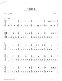 千本樱变奏双手简谱预览3-钢琴谱档(五线谱,双手简谱图片