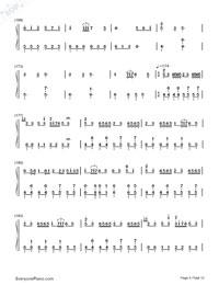 千本樱变奏双手简谱预览9-钢琴谱档(五线谱,双手简谱图片