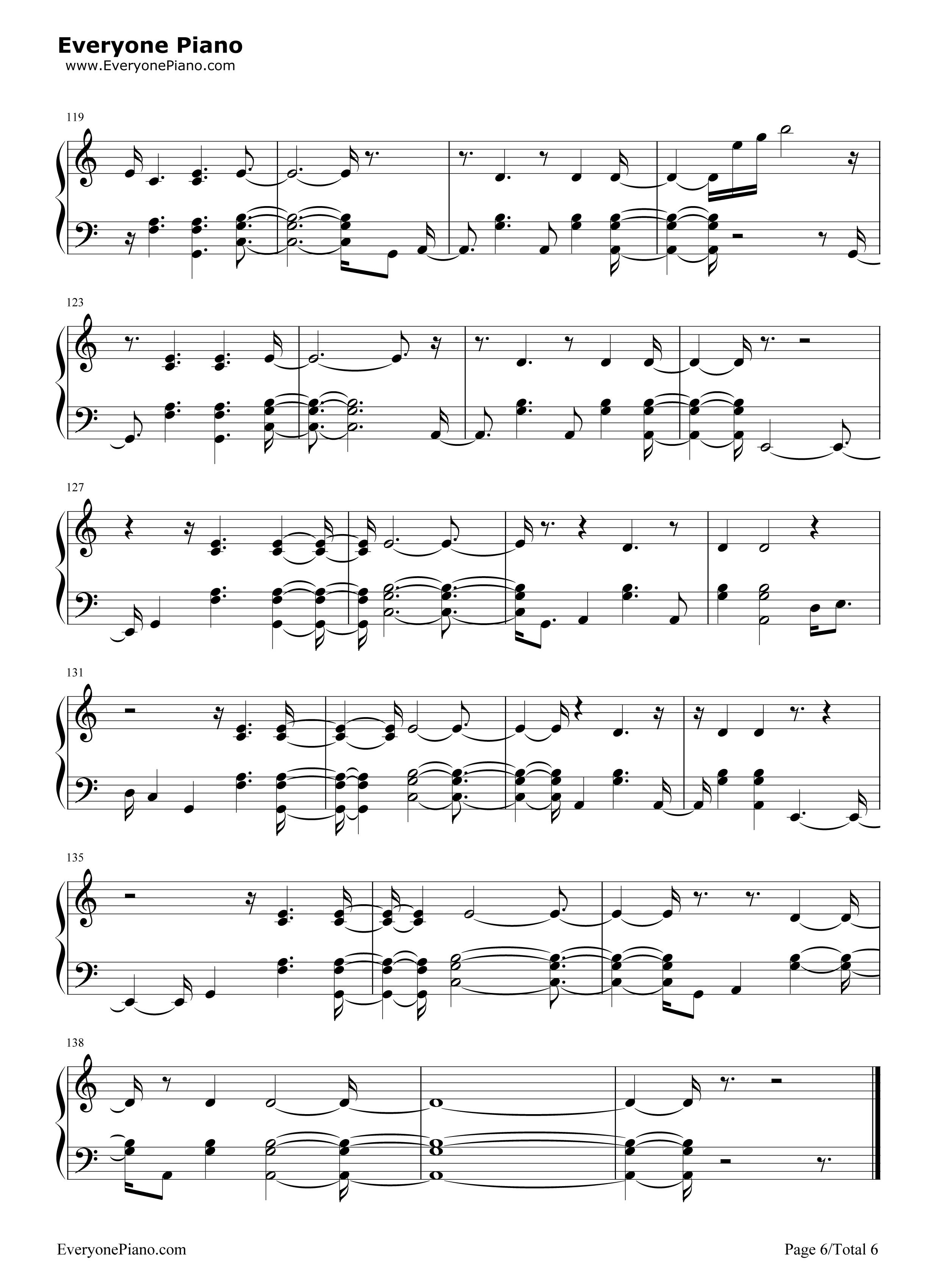 钢琴曲谱 流行 prayers up-calvin harris prayers up-calvin harris