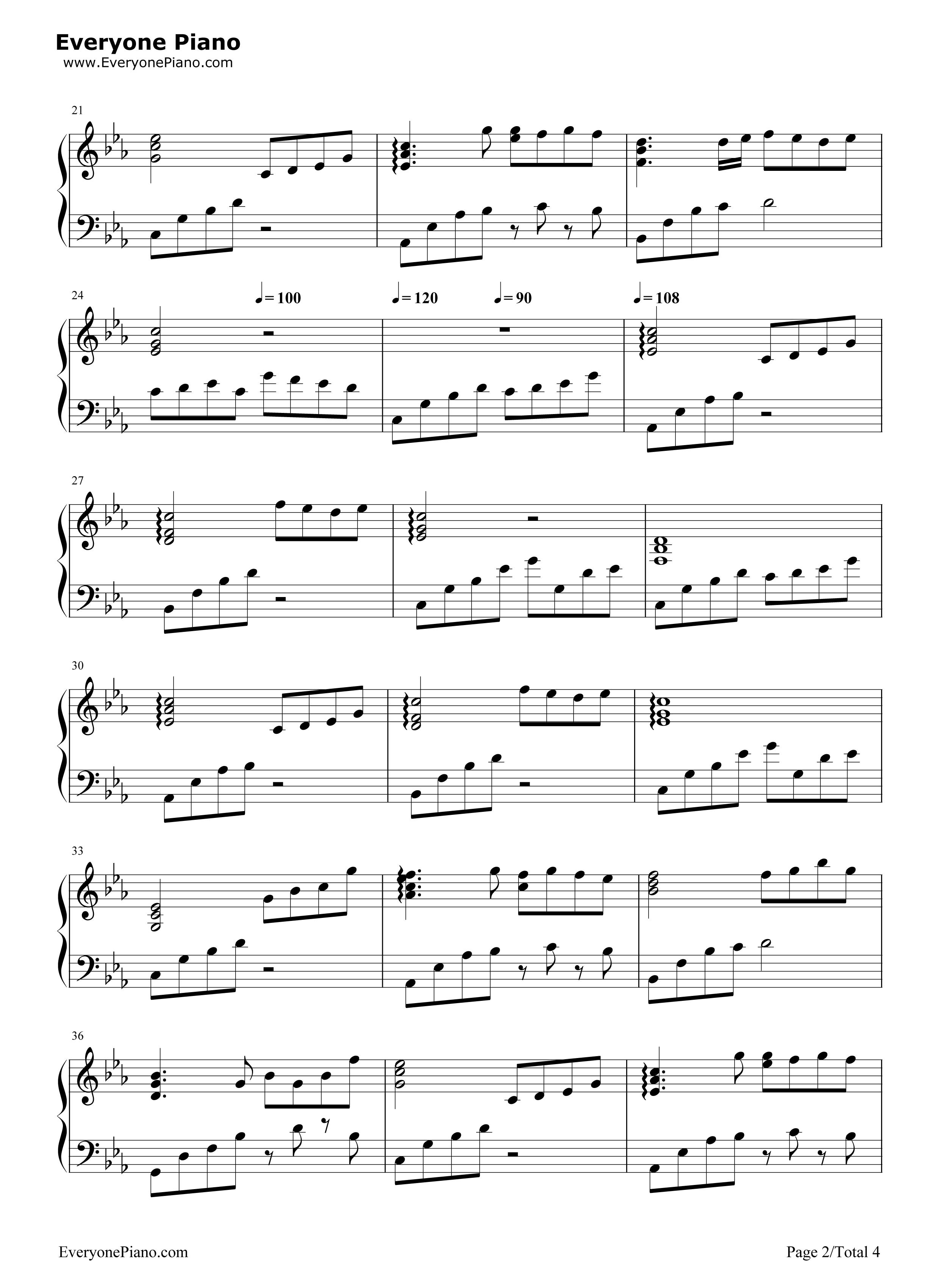 夜的钢琴曲 5-华丽版五线谱预览2