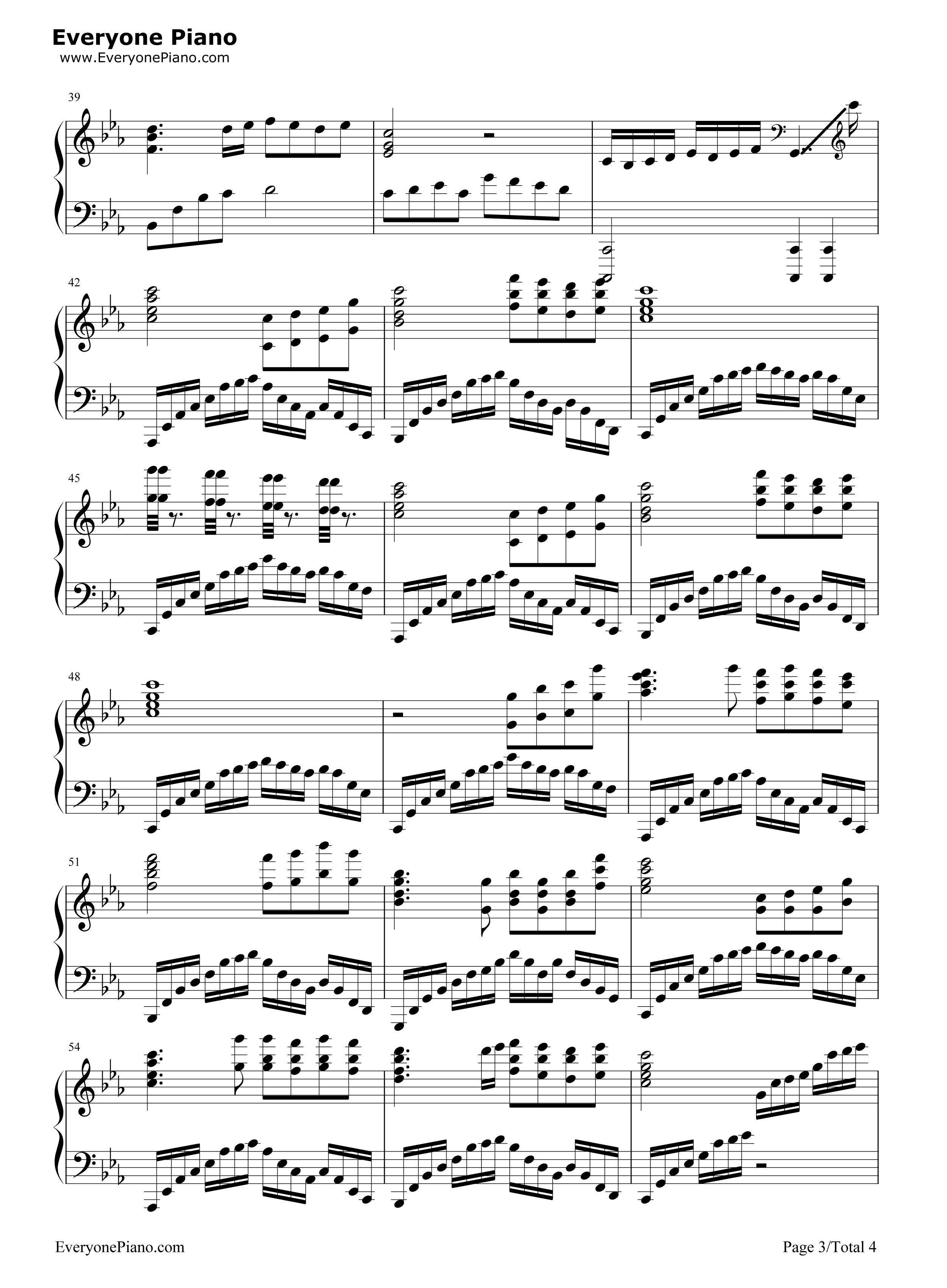 夜的钢琴曲 5-华丽版五线谱预览3
