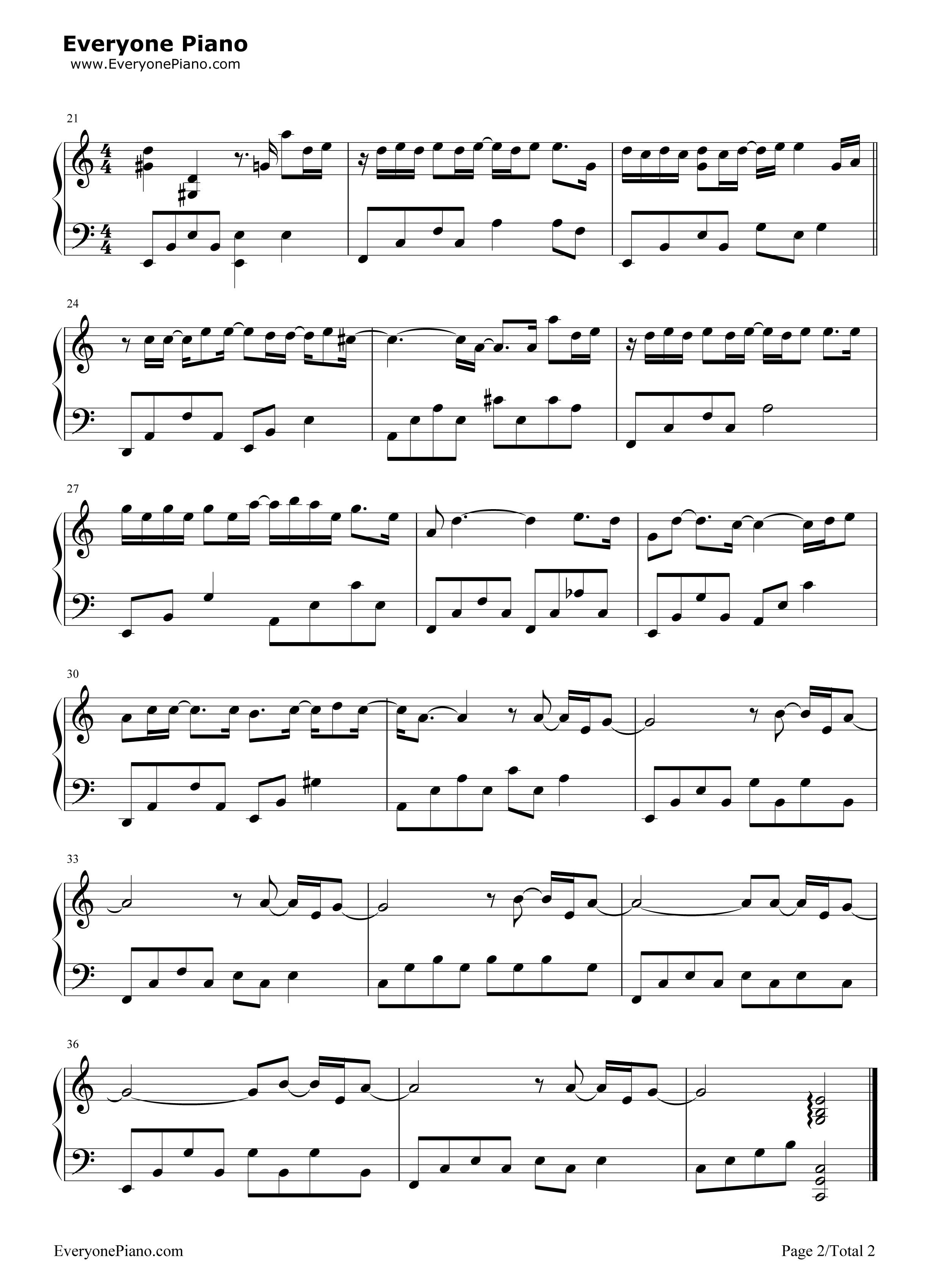 一半-薛之谦五线谱预览2-钢琴谱档(五线谱,双手简谱
