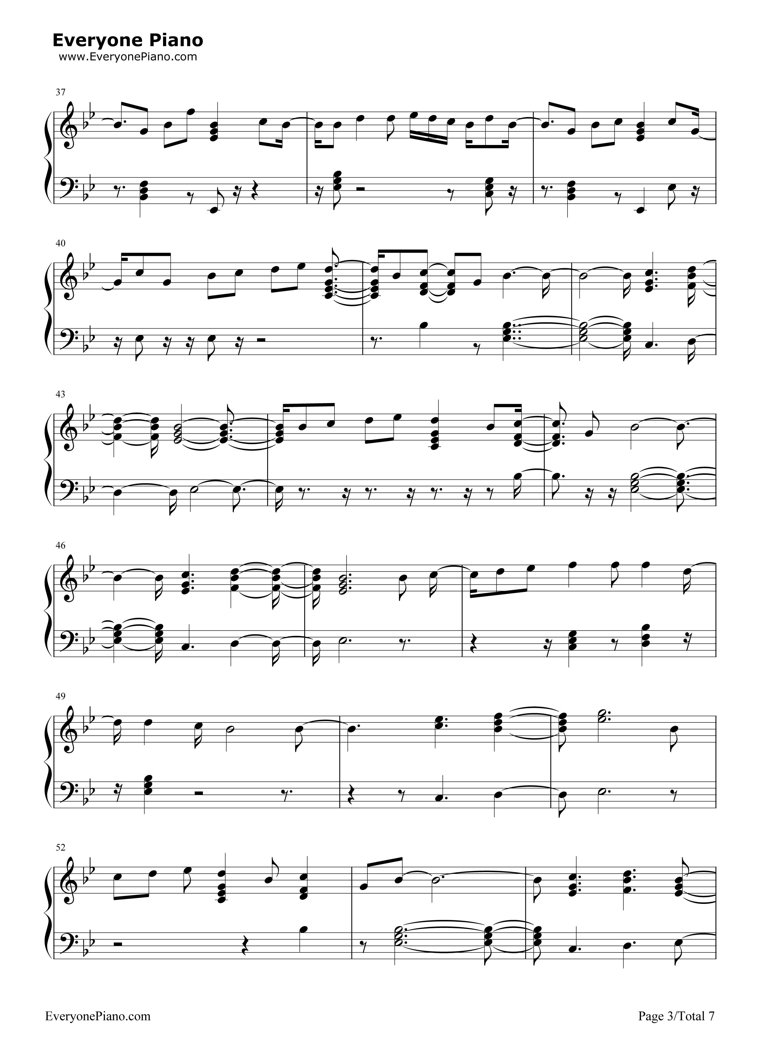 钢琴曲谱 流行 would you ever-skrillex and poo bear would you