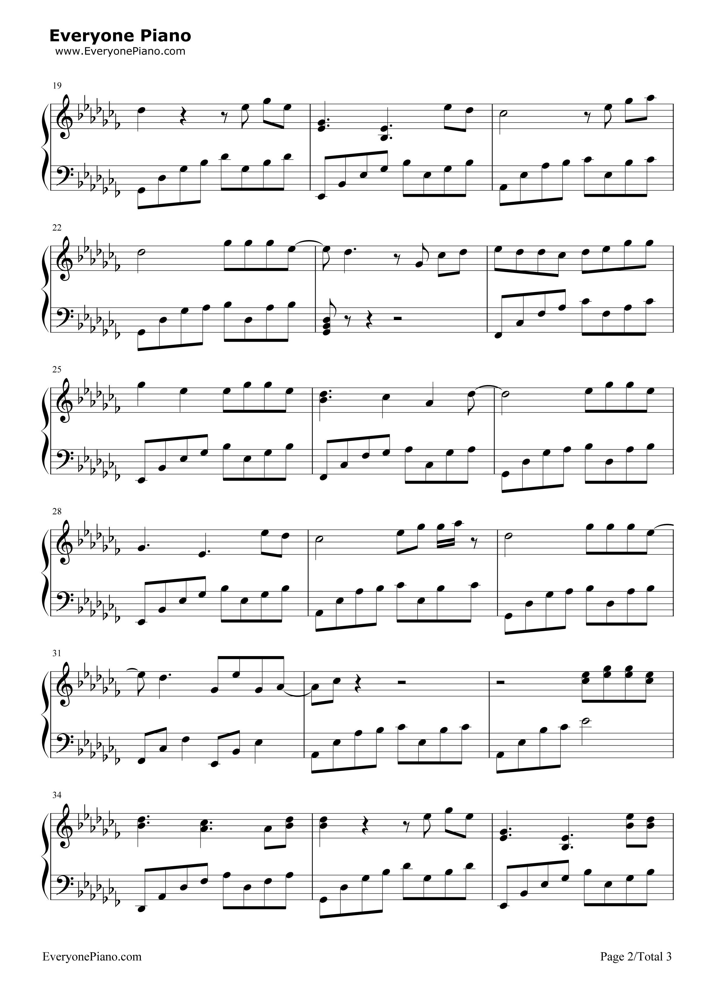 故梦-双笙五线谱预览2