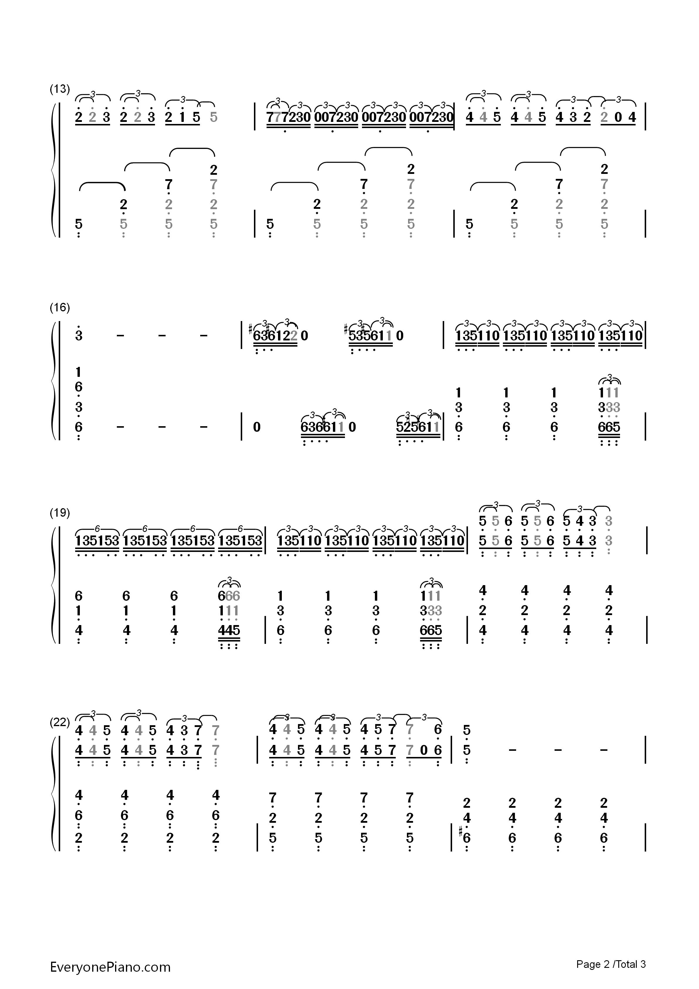 钢琴曲谱 影视 main title theme westworld-西部世界主题曲 main tit