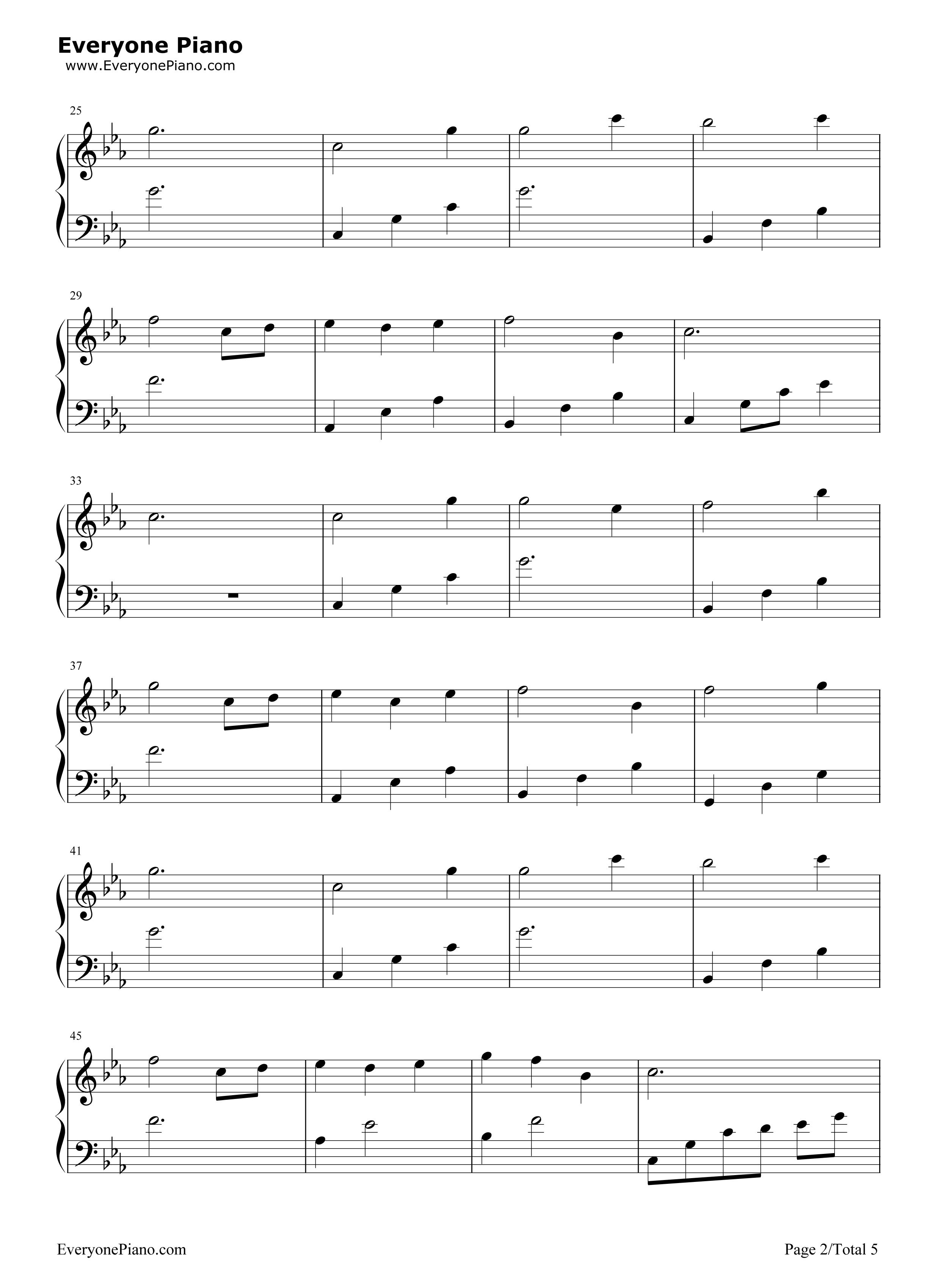 不老梦-银临五线谱预览