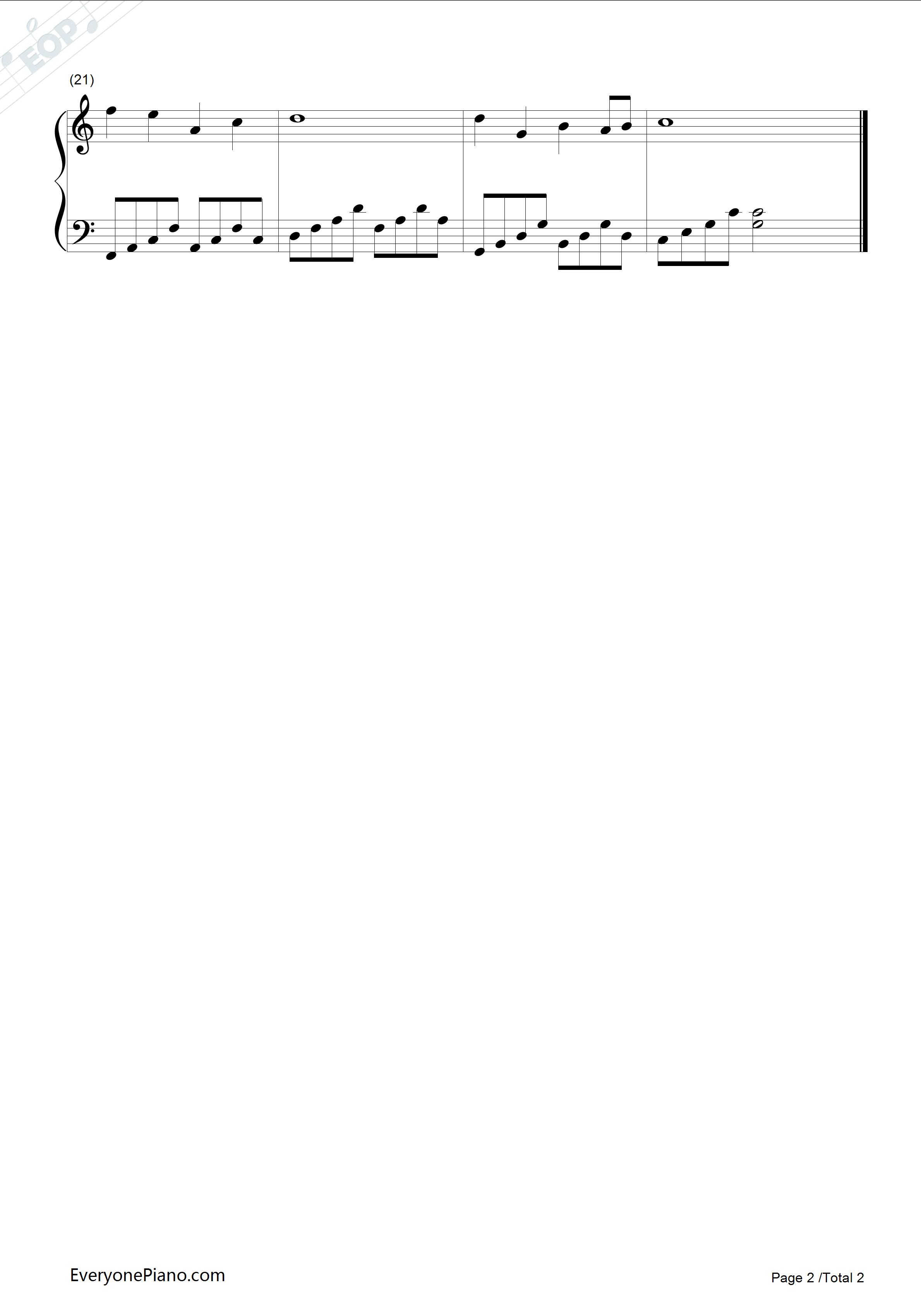 钢琴曲谱 经典 但愿人长久-邓丽君 但愿人长久-邓丽君五线谱预览2  }