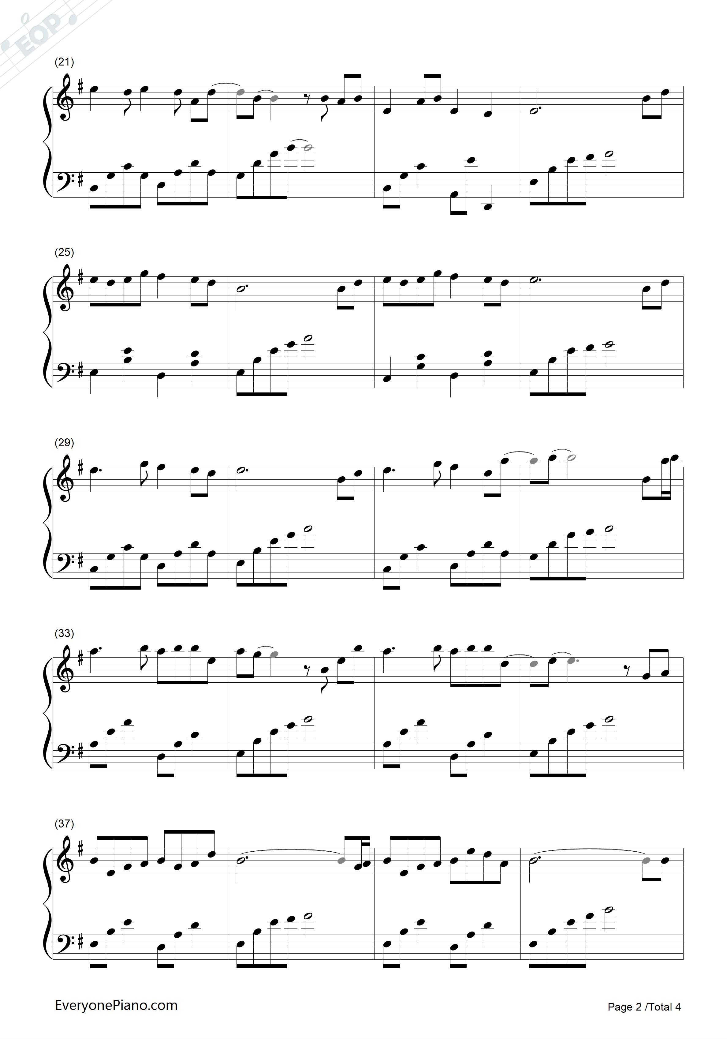 钢琴曲谱 轻音乐 枫思秋月-赵海洋 枫思秋月-赵海洋五线谱预览2